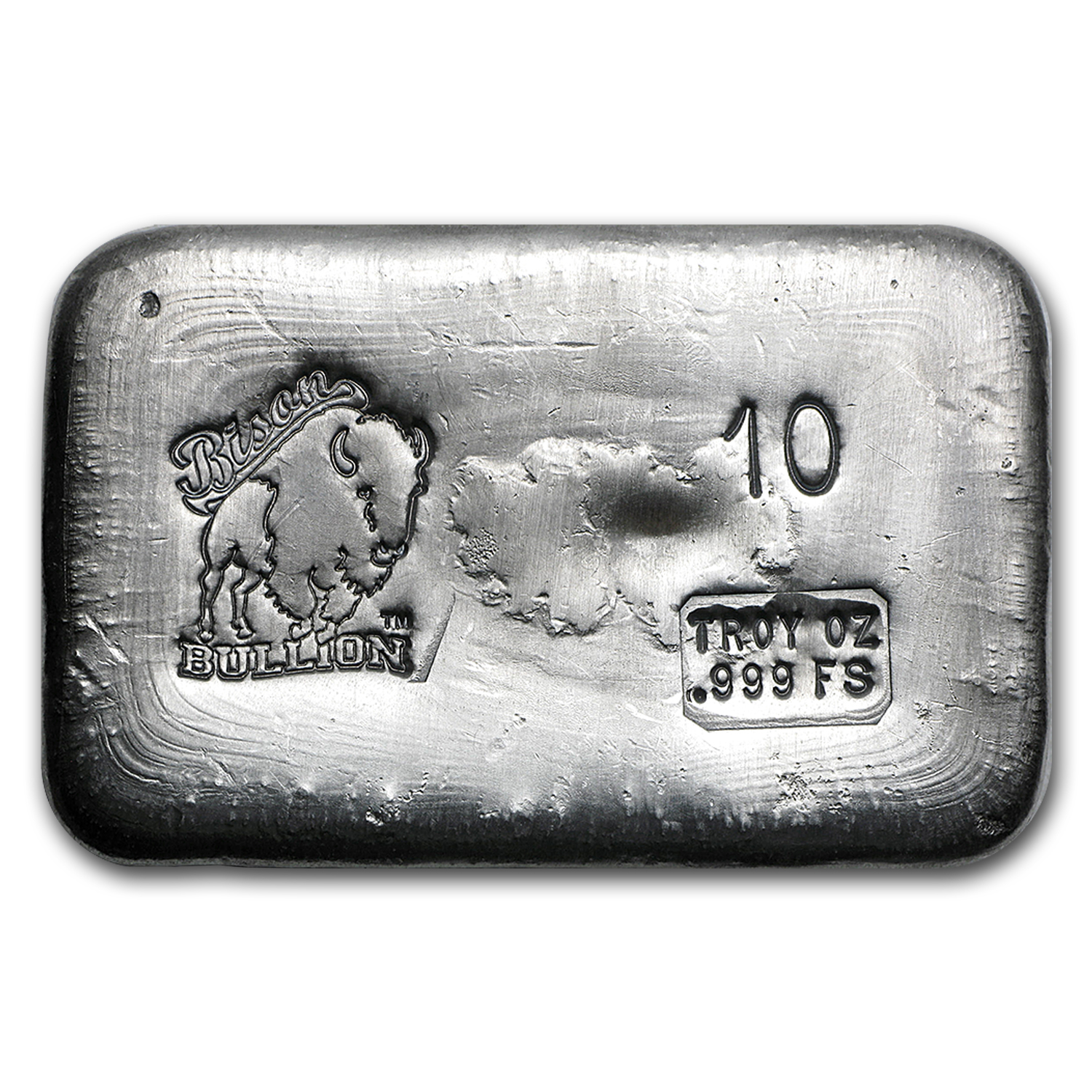 10 oz Silver Bar - Bison Bullion