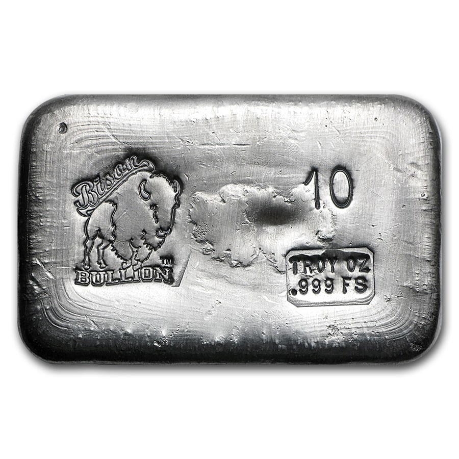10 Oz Silver Bar Bison Bullion 10 Oz Silver Bars Apmex