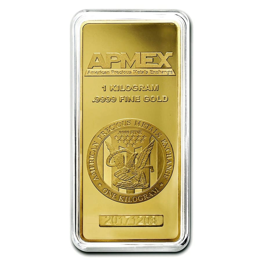 1 kilo Gold Bars - APMEX (In capsule)