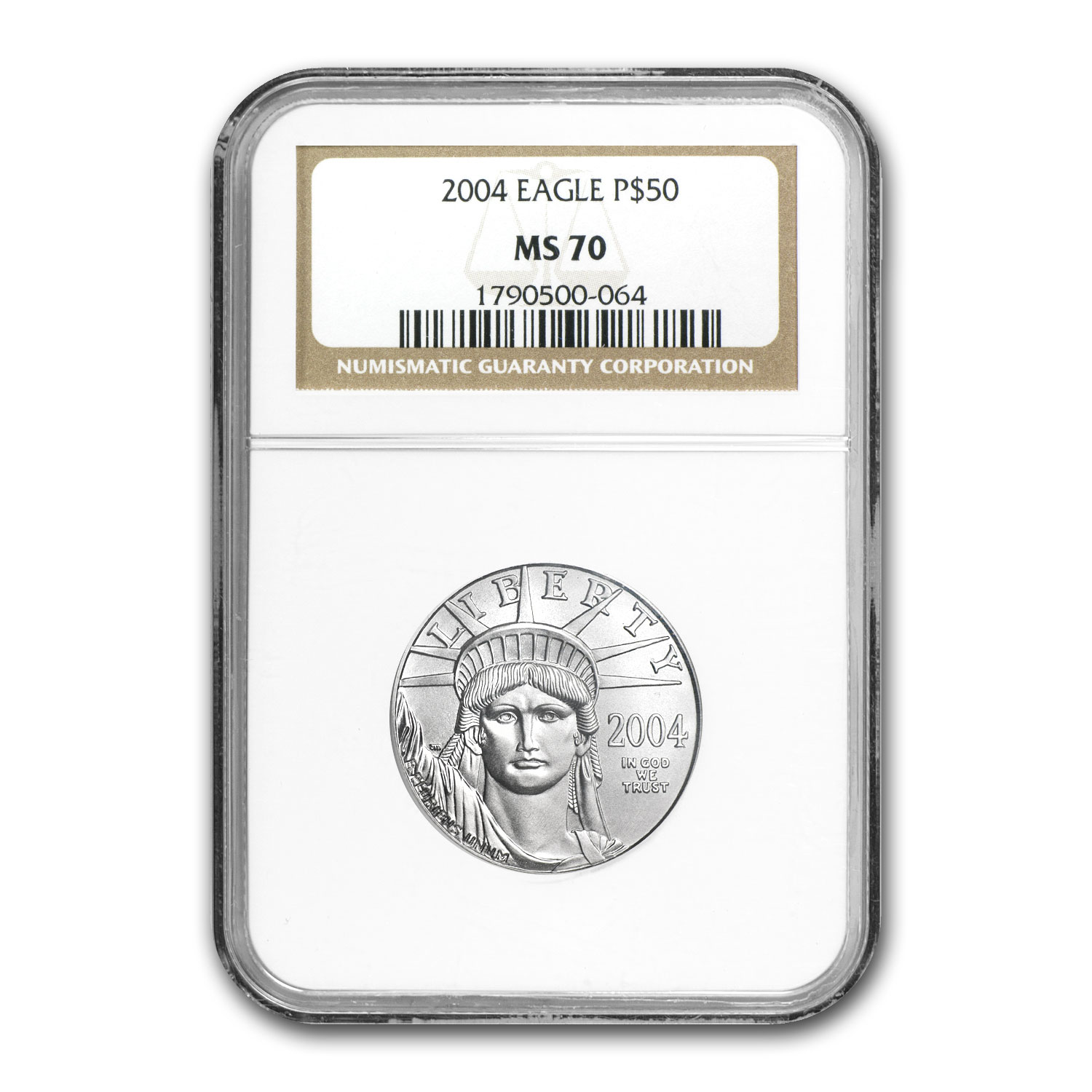 2004 4-Coin Platinum American Eagle Set MS-70 NGC