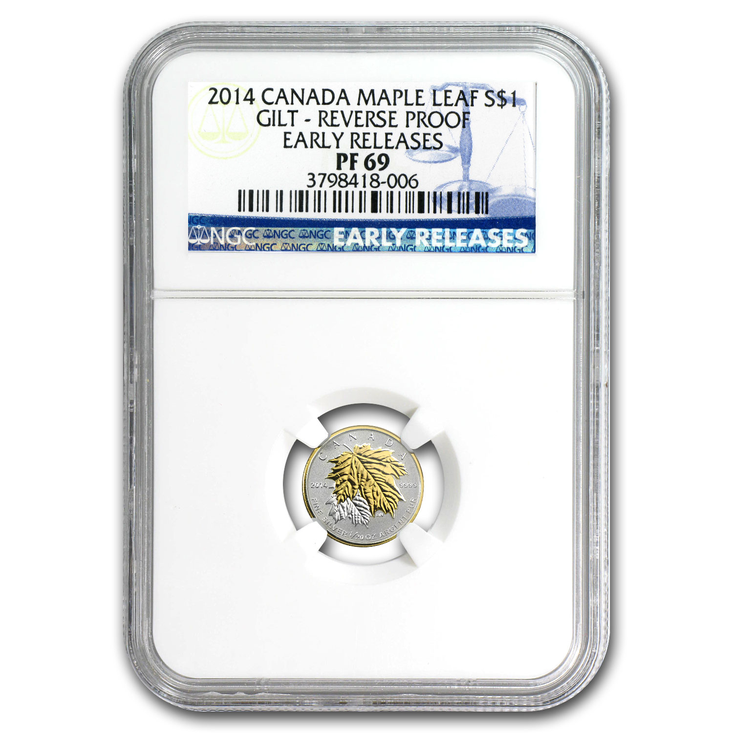 2014 Silver Can. Fractional Maple Leafs - 5 Coin Set PF-69 NGC ER
