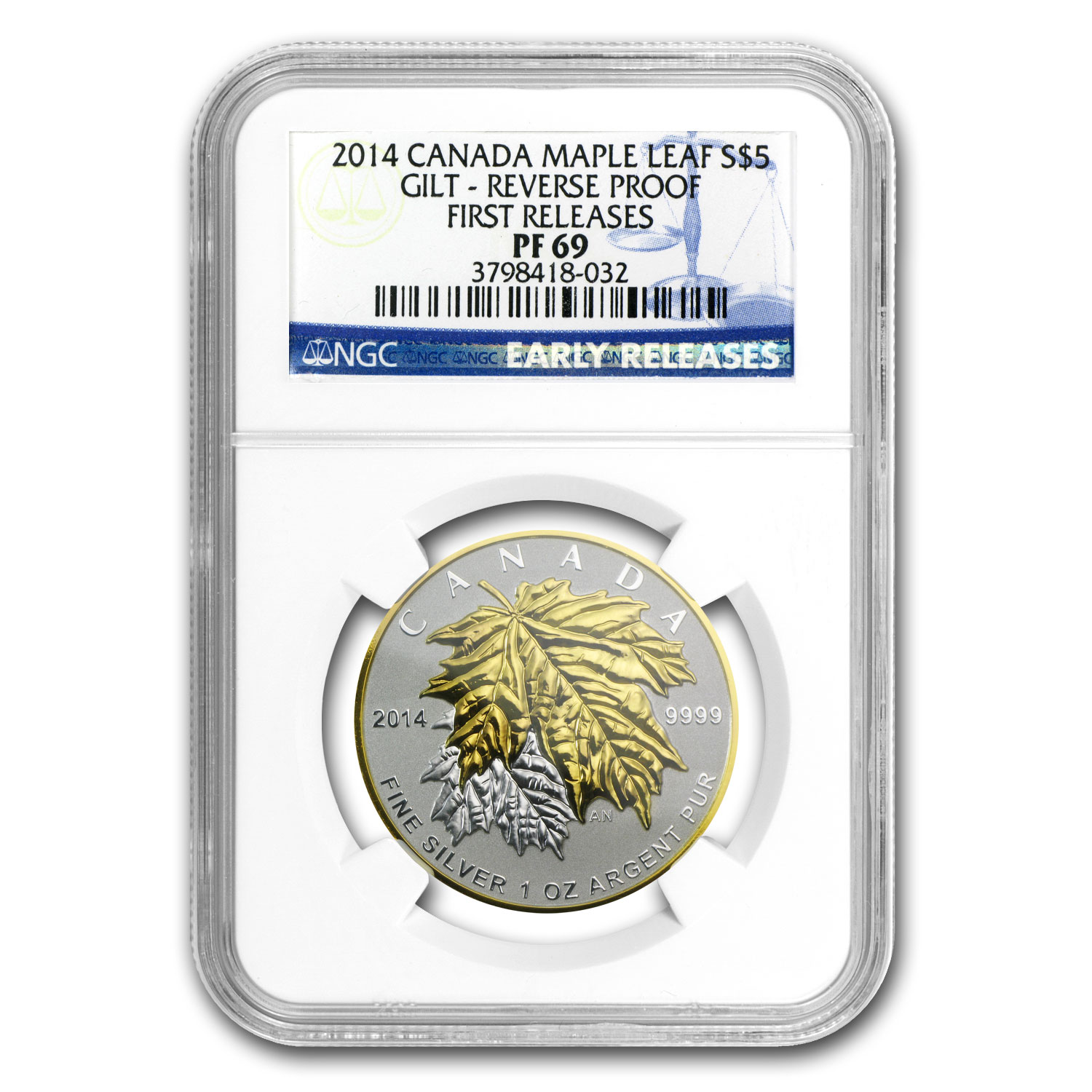 2014 Canada 5-Coin Silver Maple Leaf Set PF-69 NGC (ER)