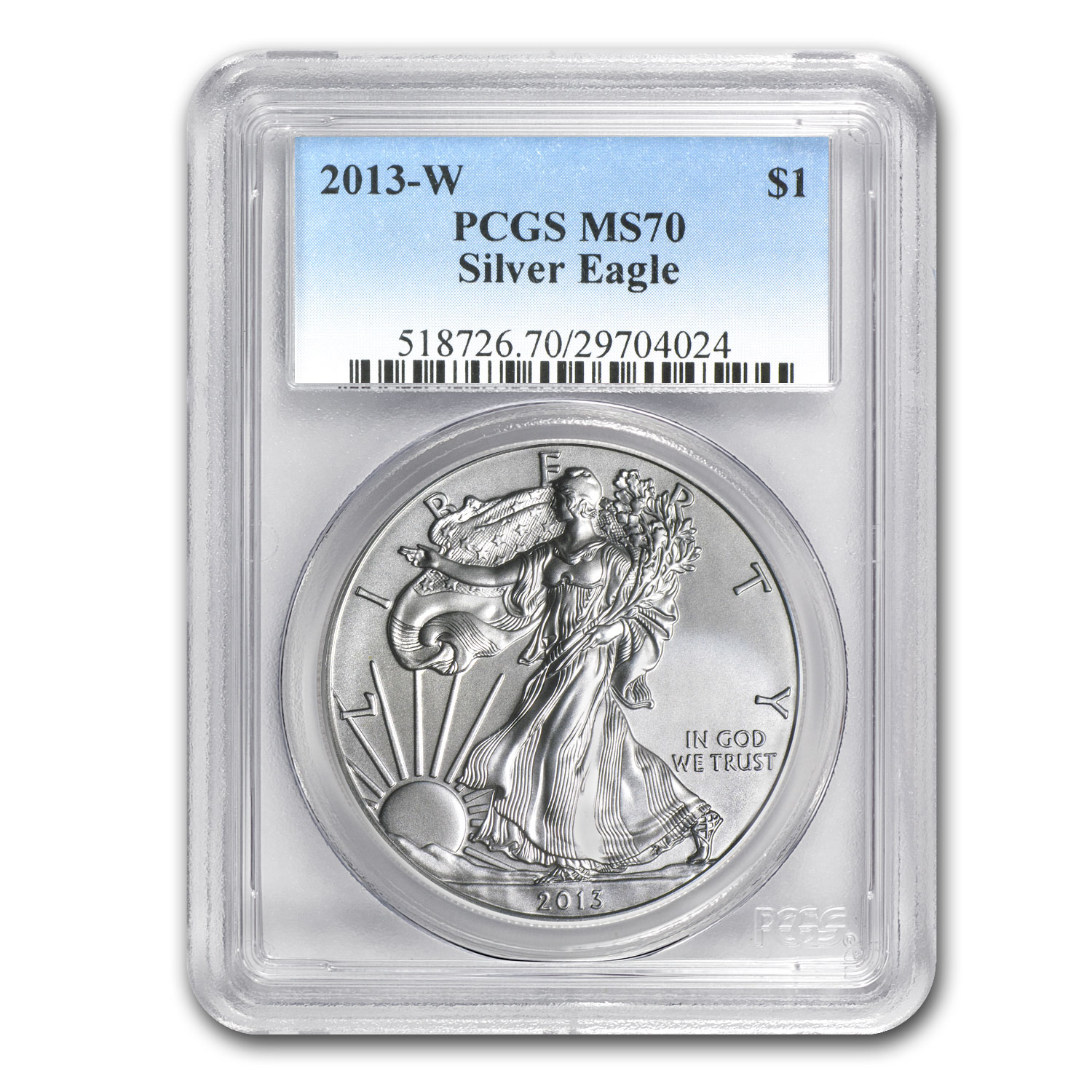 2013-W Burnished Silver American Eagle MS-70 PCGS