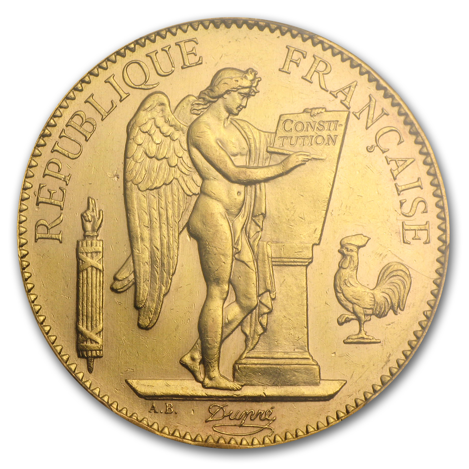 1878-1913 France Gold 100 Francs Lucky Angel AU-58 PCGS