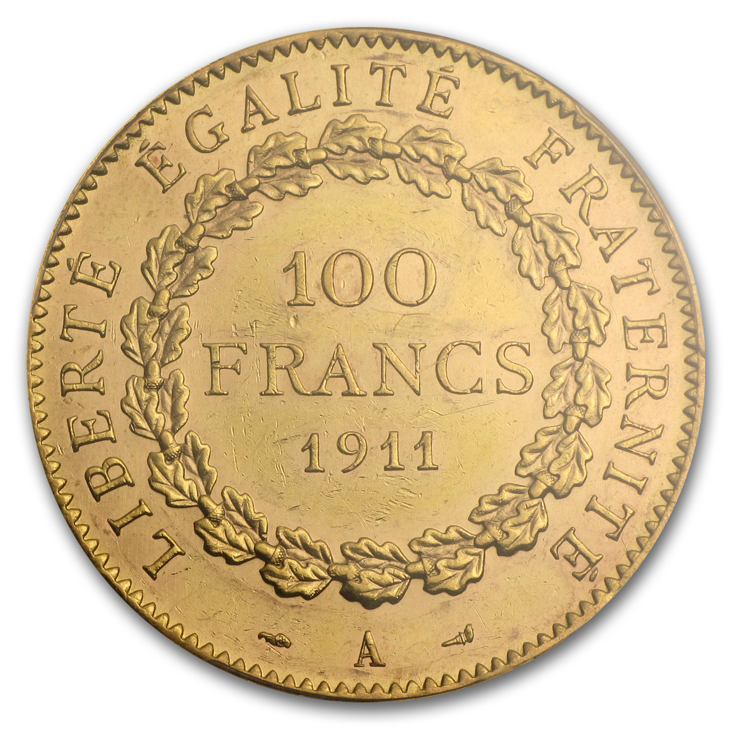 France Gold 100 Francs (Lucky Angel) (AU-58 PCGS)