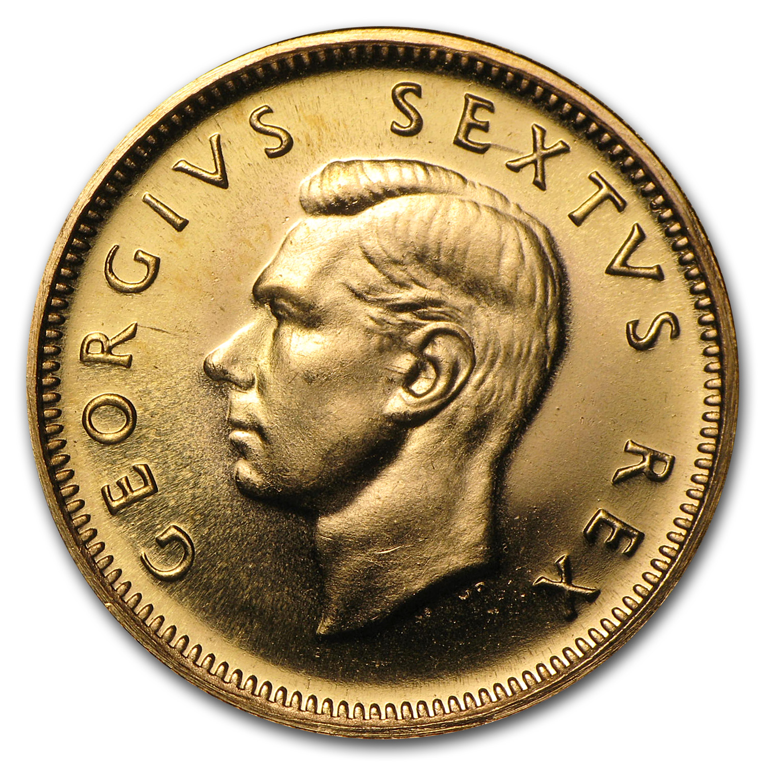 1952 South Africa Gold 1/2 Pound George VI BU/Proof
