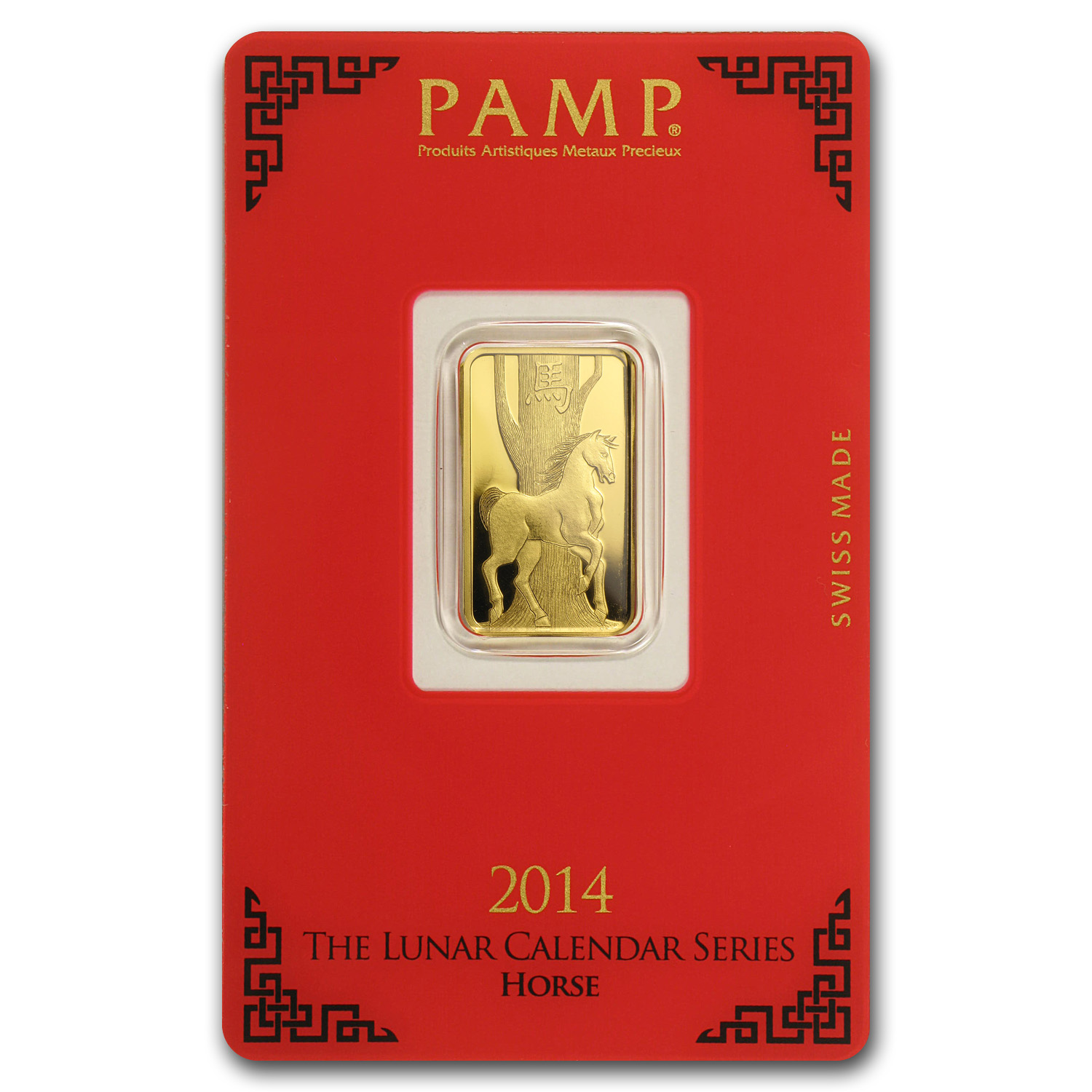 5 Gram Gold Bar Pamp Suisse Year Of The Horse In Assay