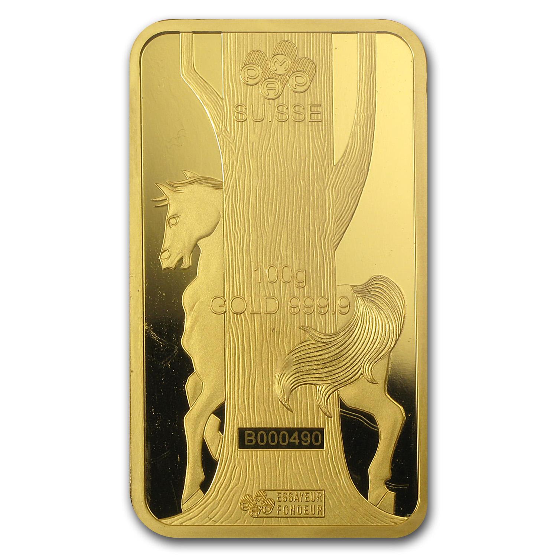 100 Gram Gold Bar For Sale One Hundred Gram Pamp Suisse