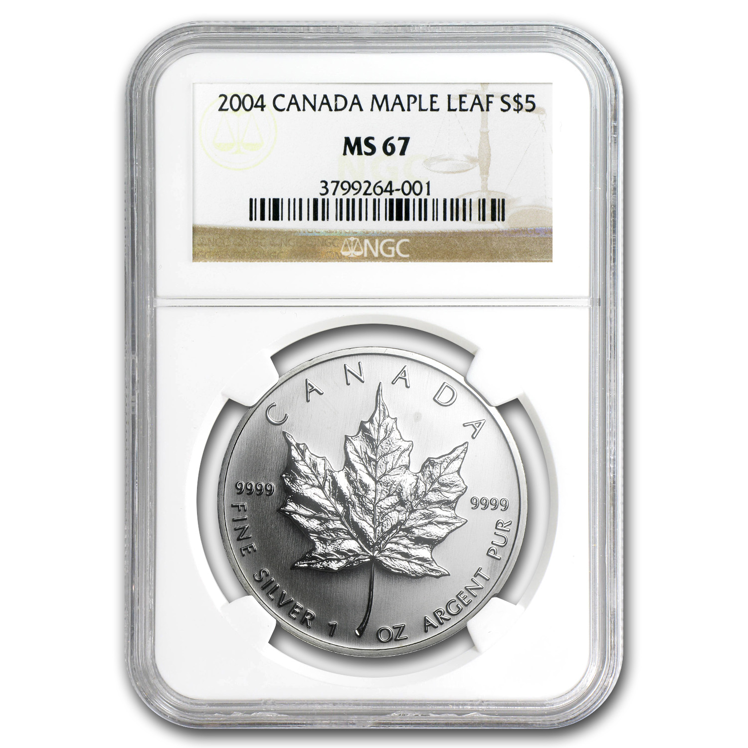 2004 Canada 1 oz Silver Maple Leaf MS-67 NGC