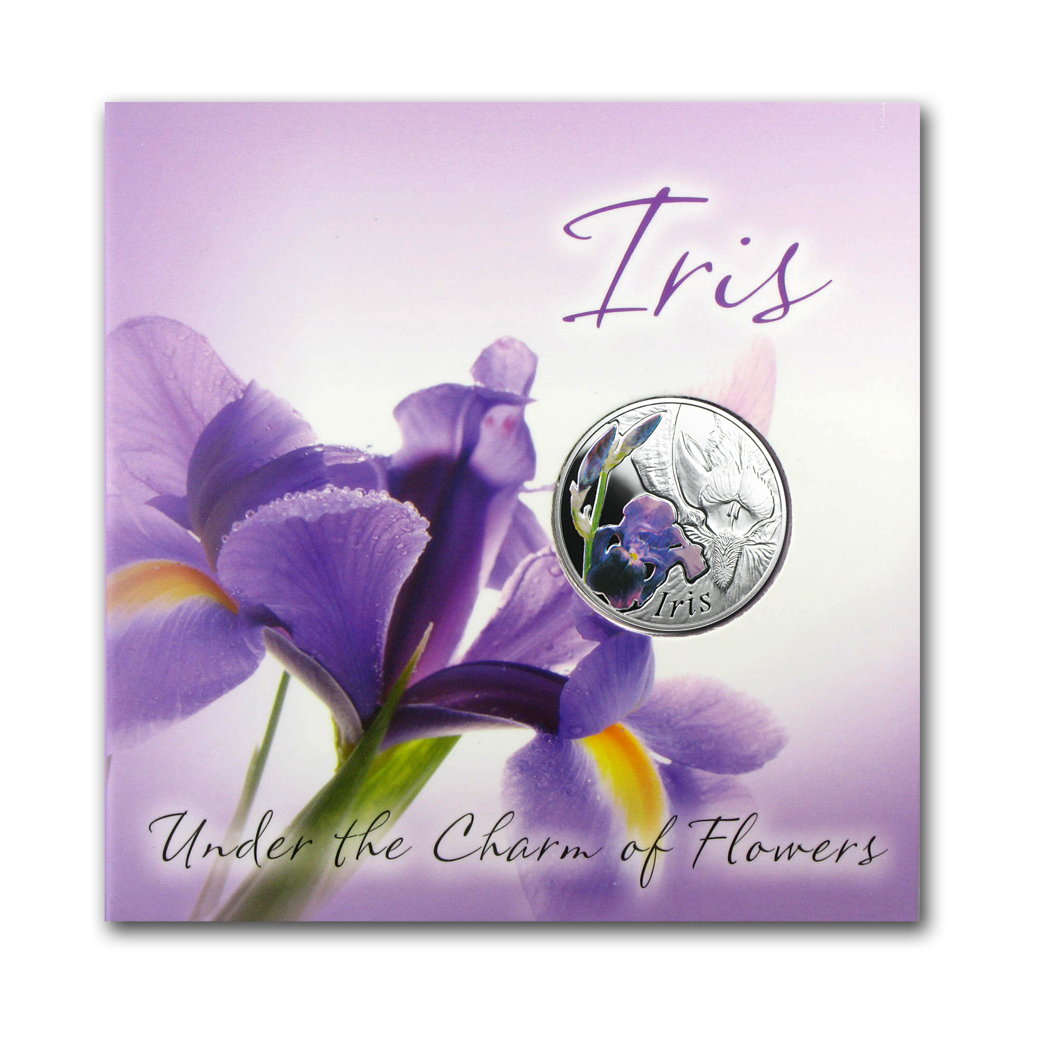 2013 Belarus Silver Proof Under the Charm of Flowers Iris