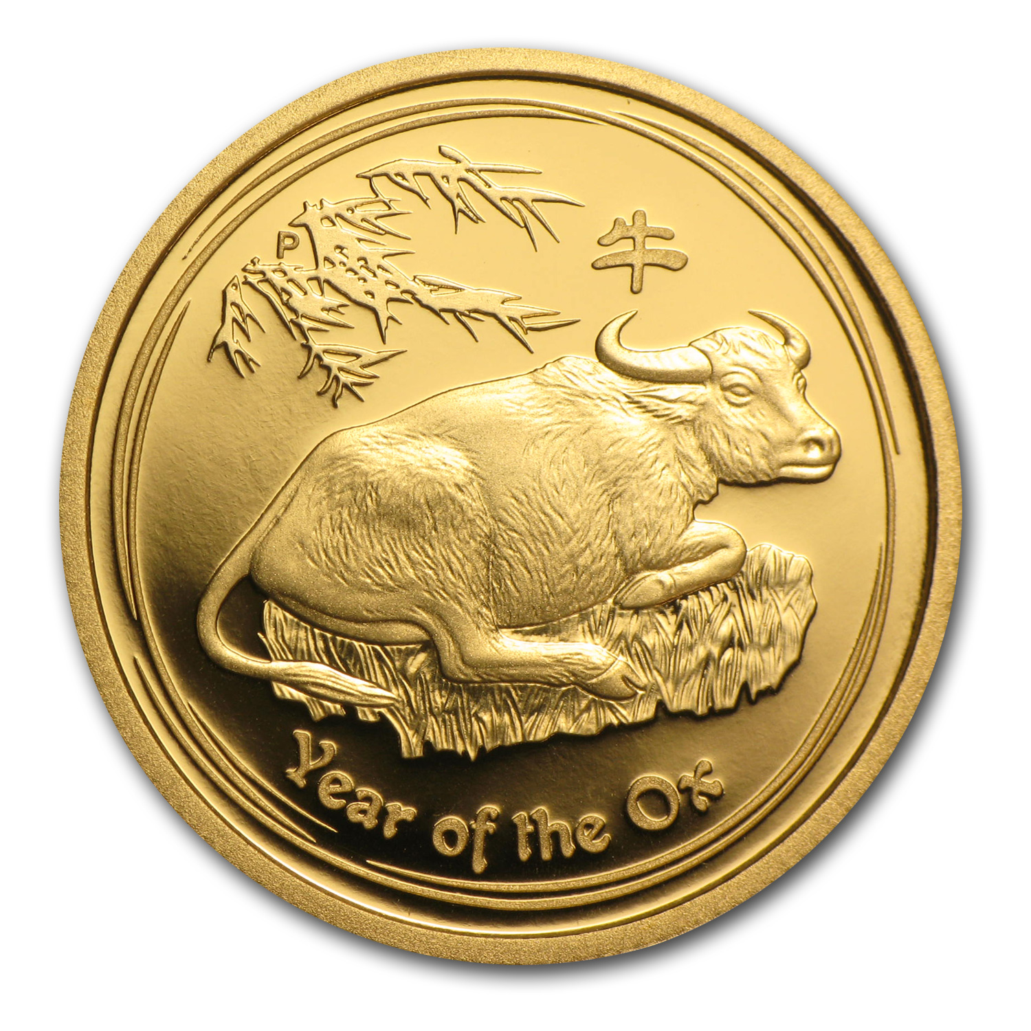 2009 1/4 oz Proof Gold Lunar Year of the Ox (Series II)