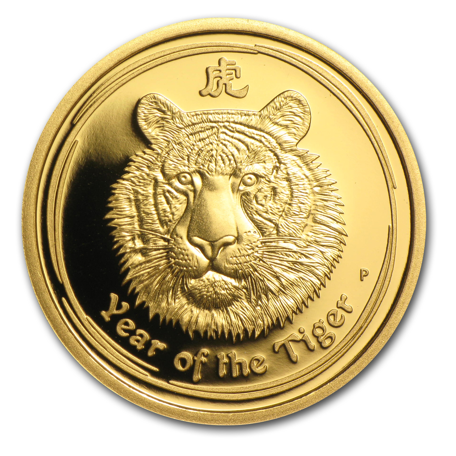2010 Australia 1/4 oz Gold Lunar Tiger Proof (Series II)