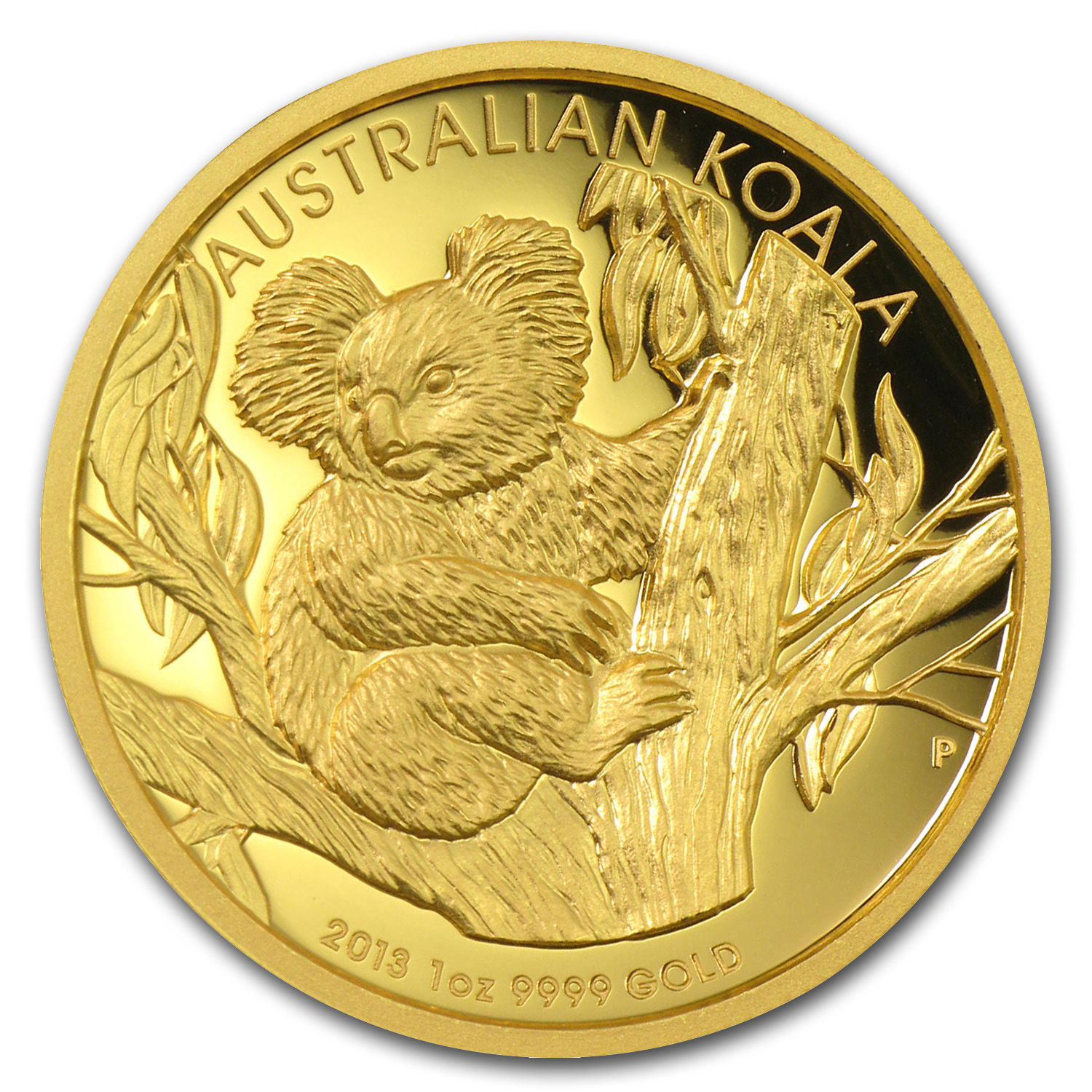 2013-P 1 oz Australian Gold Koala Proof (High Relief, Box & COA)