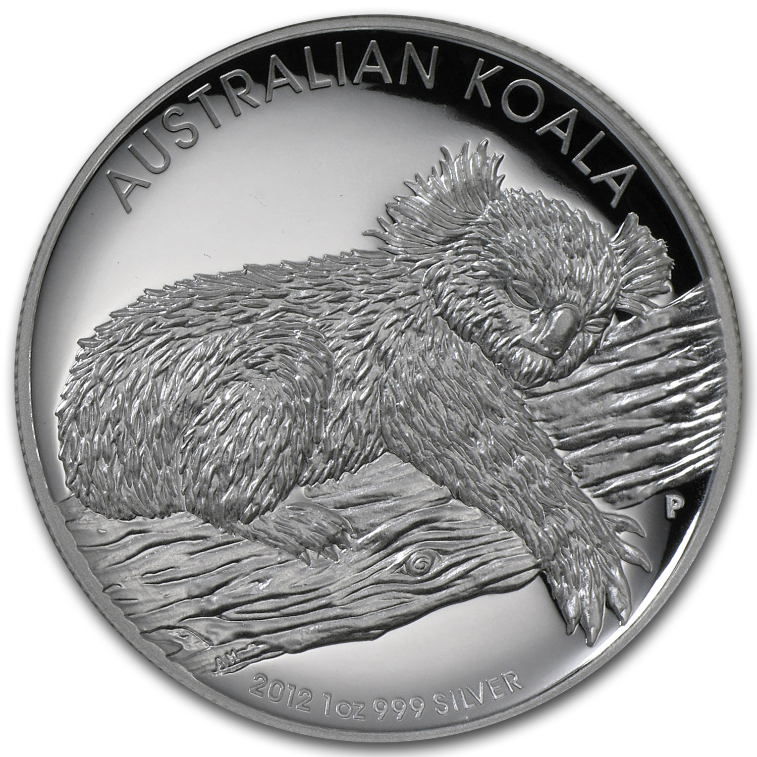 2012 1 oz Silver Australian Koala Prf (High Relief, w/Box & COA)