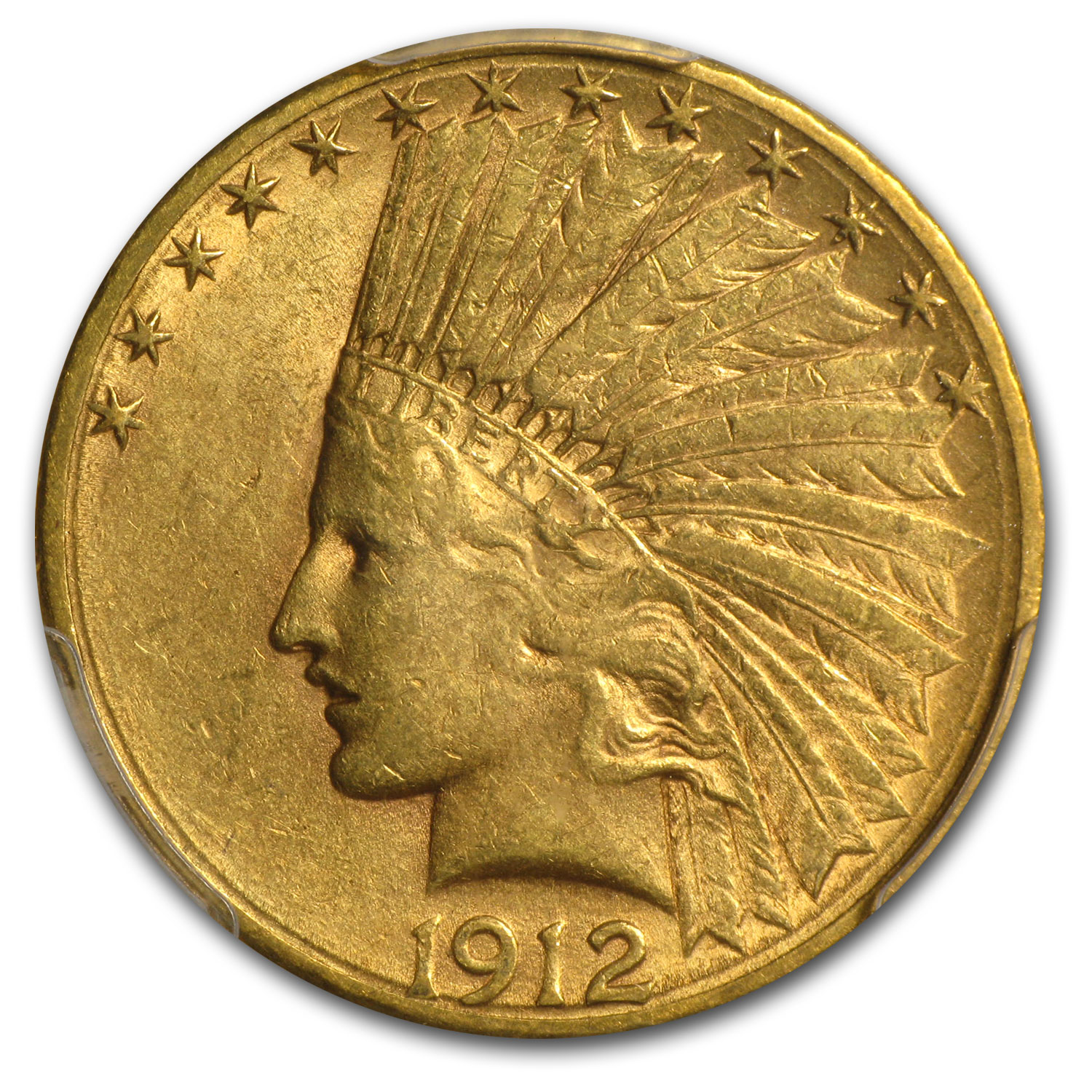 1912-S $10 Indian Gold Eagle AU-55 PCGS