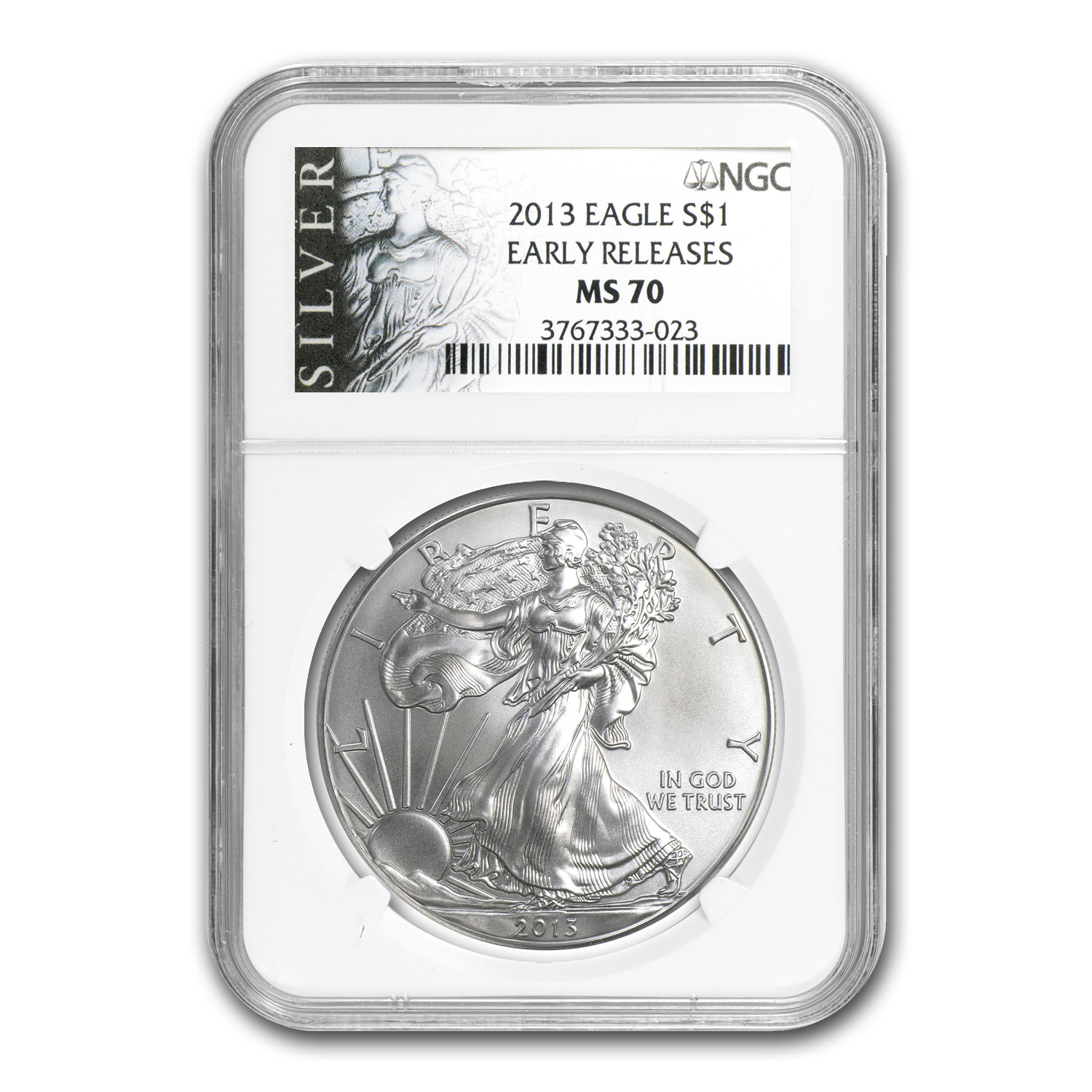 2013 Silver American Eagle - MS-70 NGC - ALS Label/Early Release