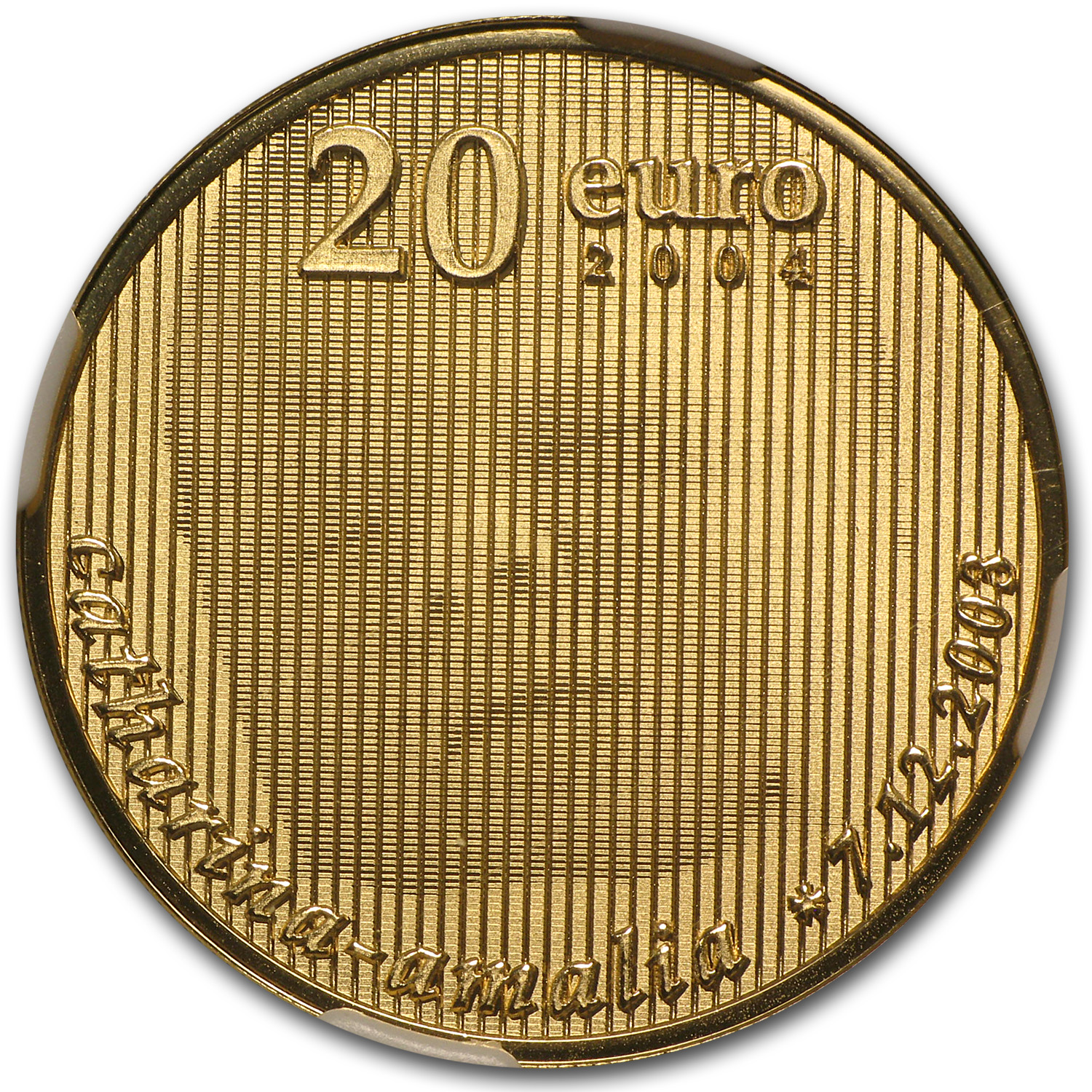2004 Netherlands Gold €20 PF-69 NGC