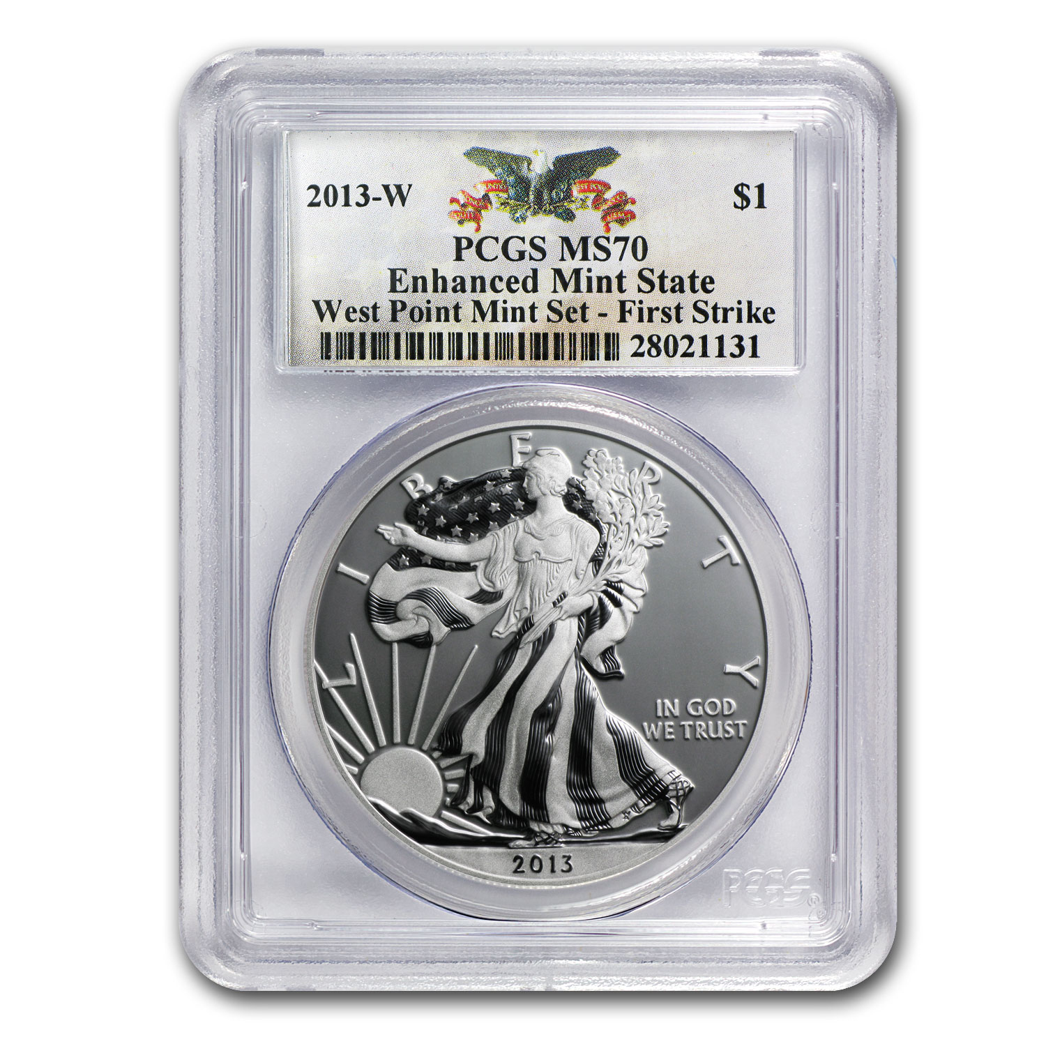 2013-W (Enhanced Finish) Silver Eagle PCGS MS-70 FS