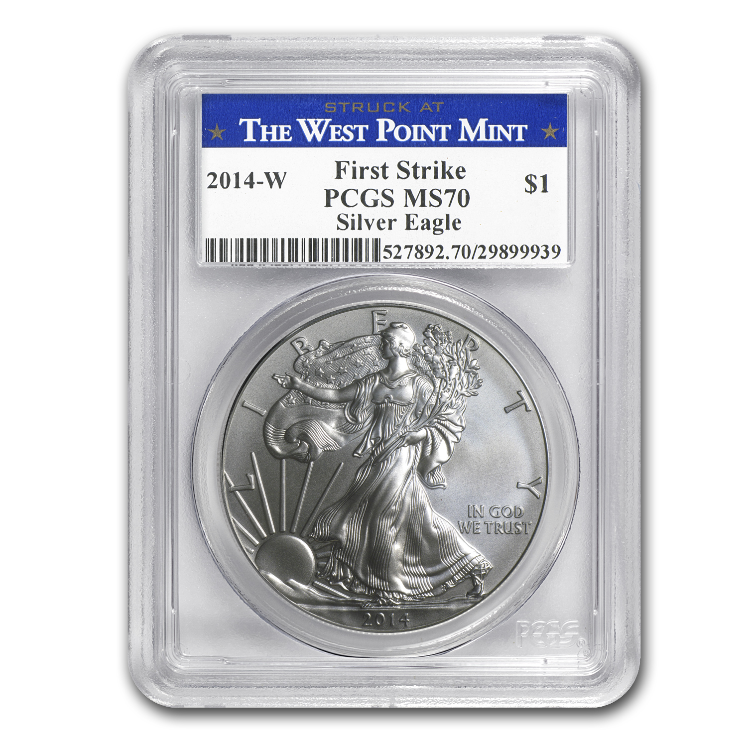 2014-W Burnished Silver Eagle - MS-70 PCGS - First Strike