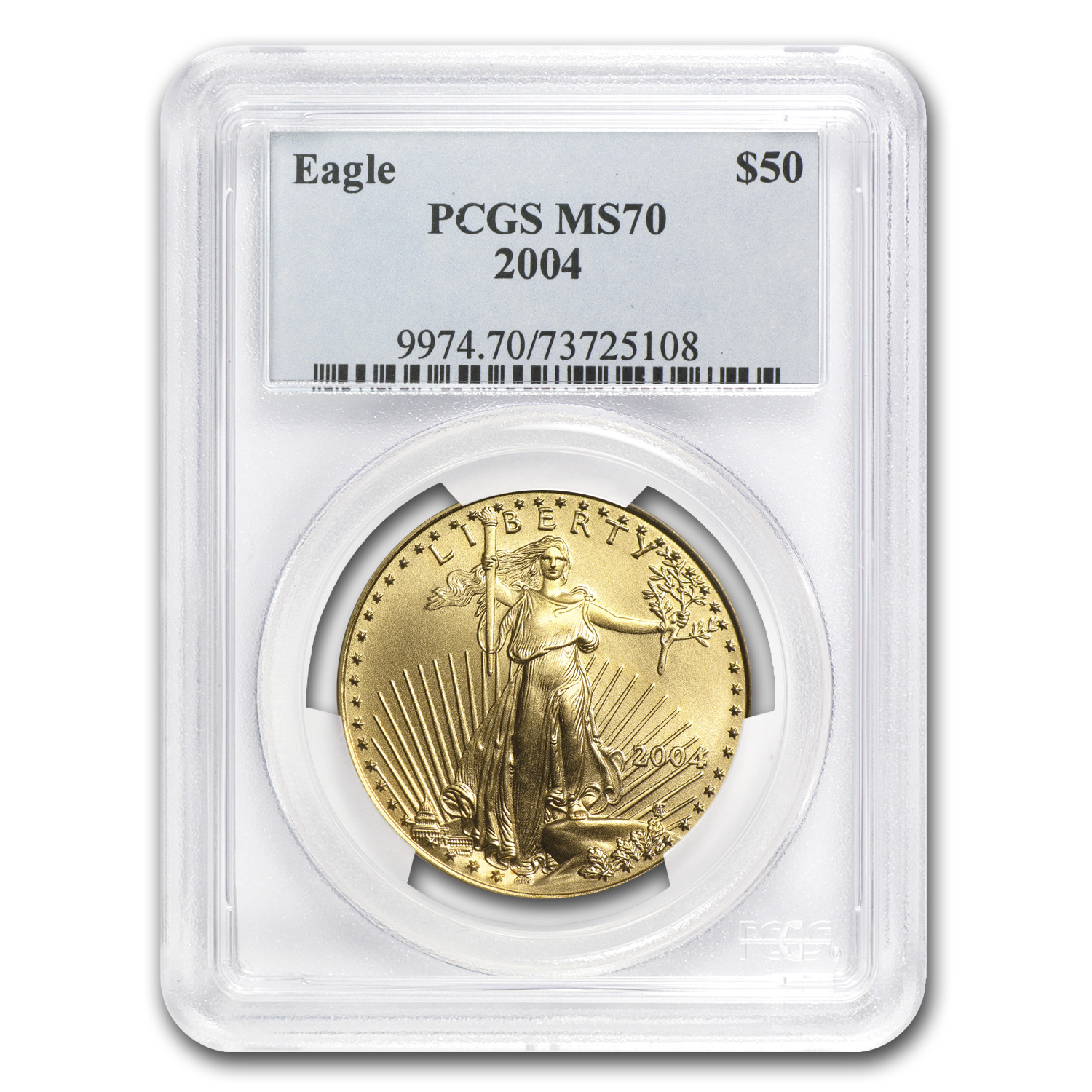 2004 4-Coin Gold American Eagle Set MS-70 PCGS