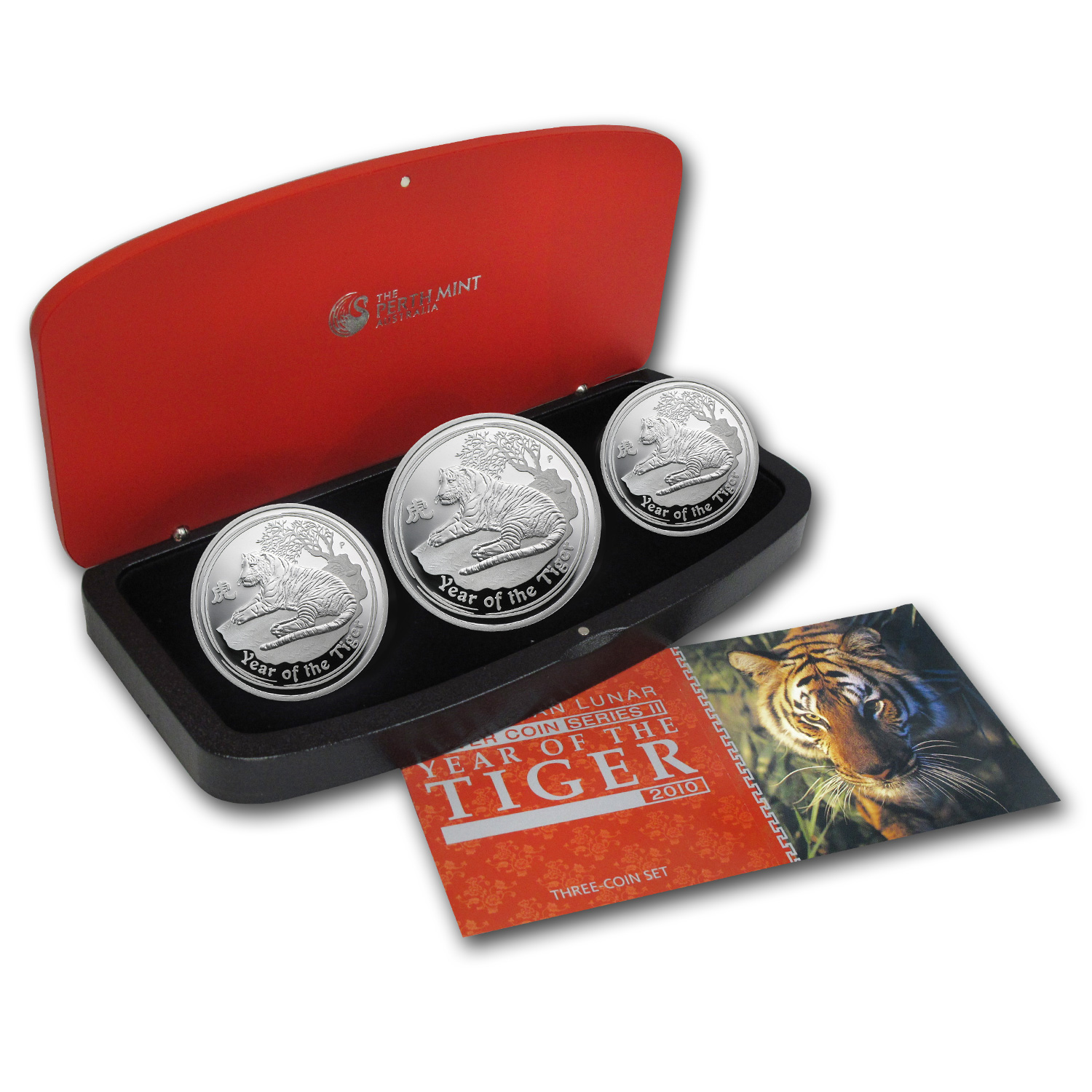 2010 Australia 3-Coin Silver Year of the Tiger Proof Set