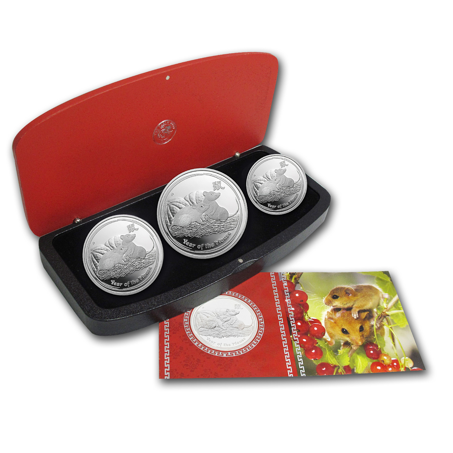 2008 Year of the Mouse - Silver 3-Coin Proof Set - (Series II)