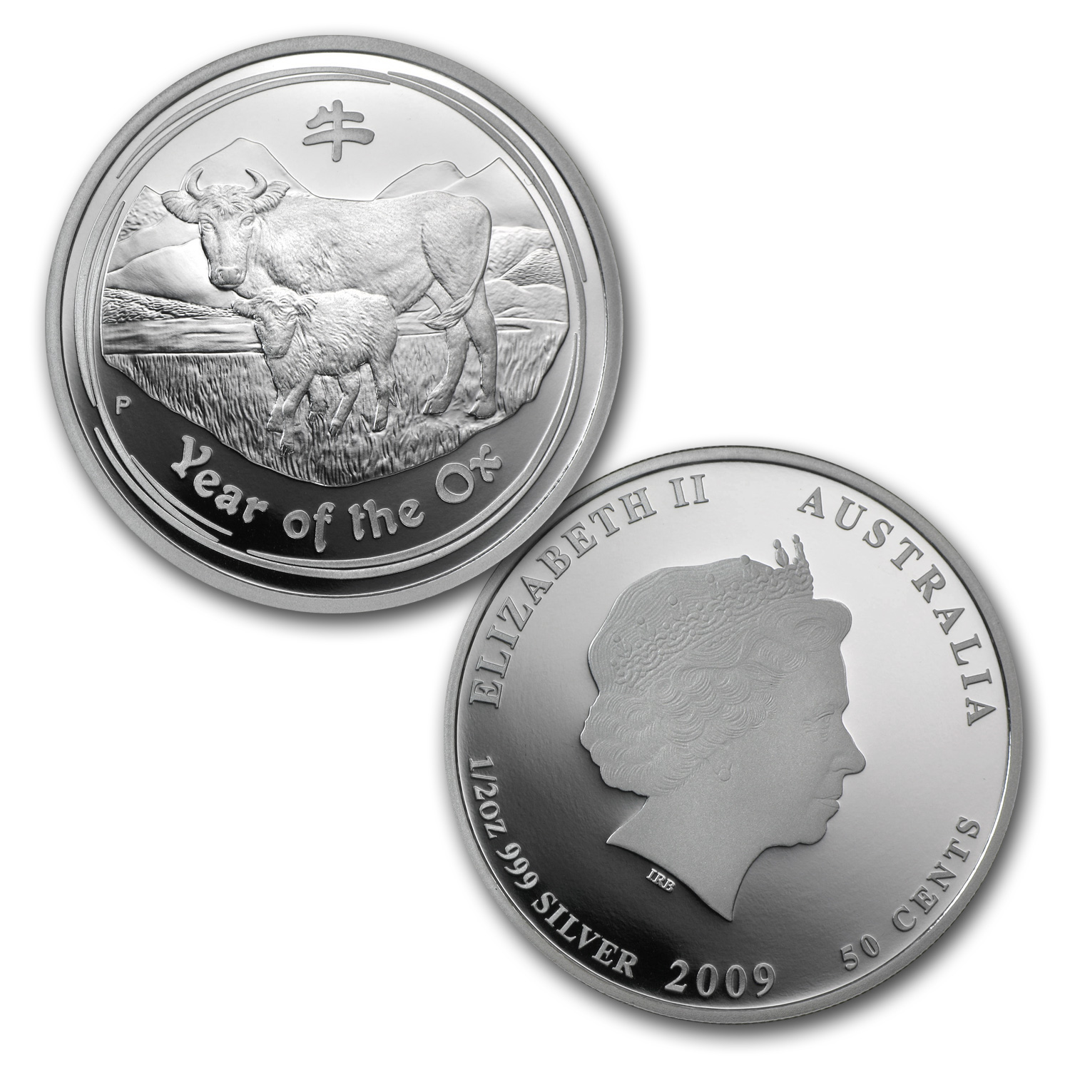 2009 Australia 3-Coin Silver Year of the Ox Proof Set