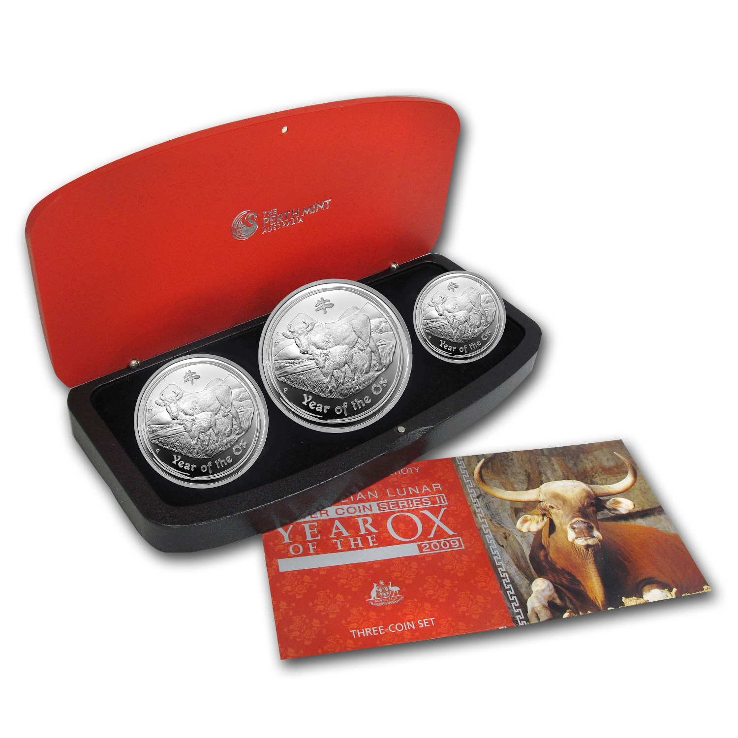 2009 Year of the Ox - Silver 3-Coin Proof Set - (Series II)