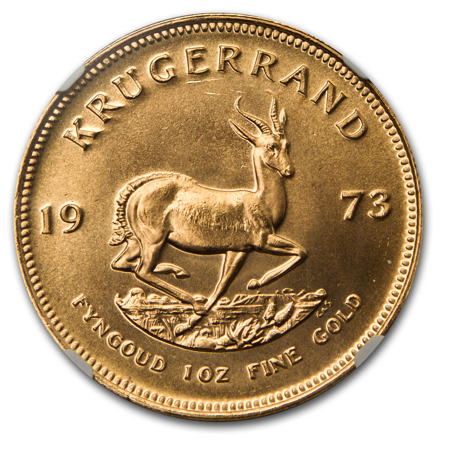 1973 1 oz Gold South African Krugerrand MS-67 NGC