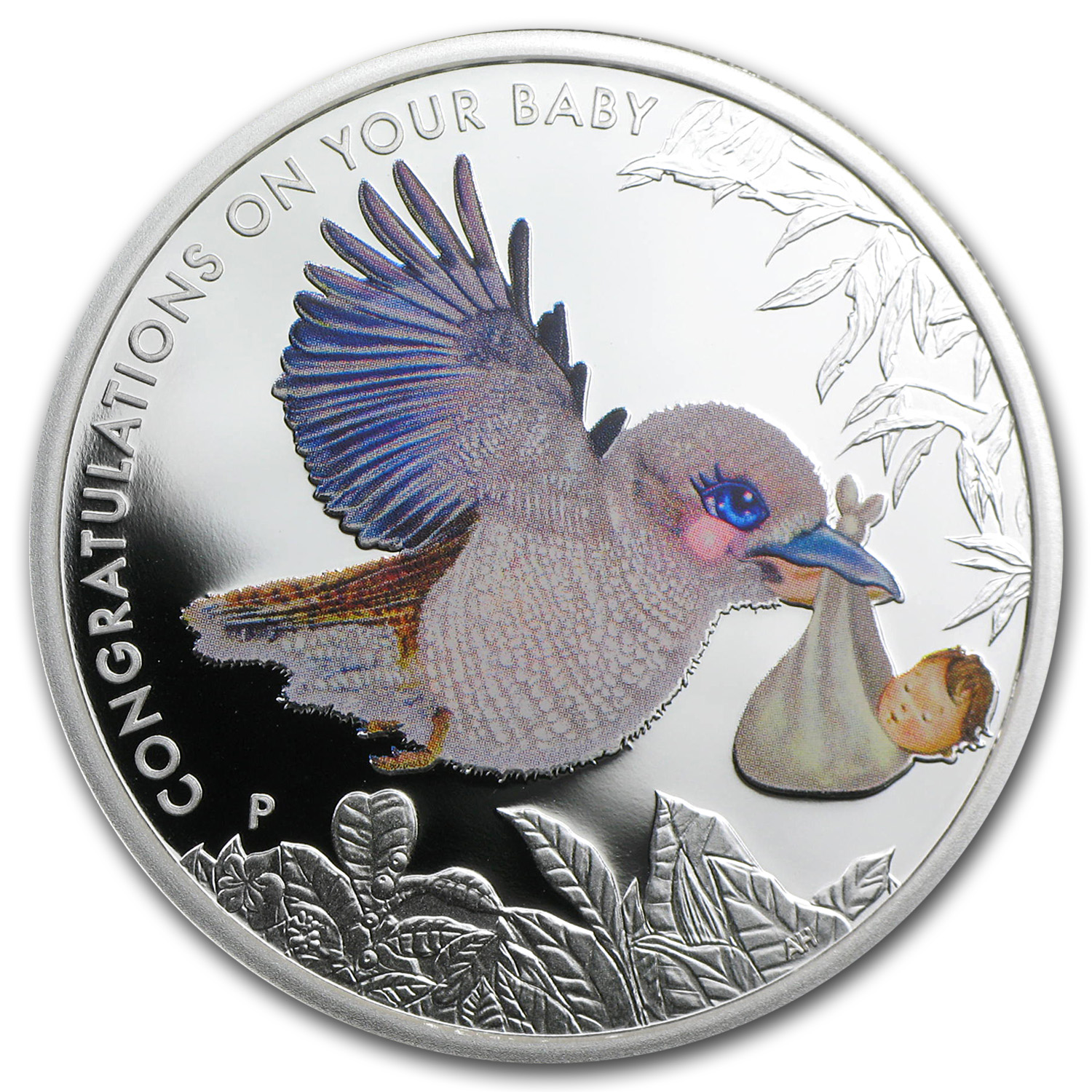2014 1/2 oz Silver Newborn Baby Kookaburra Proof Coin