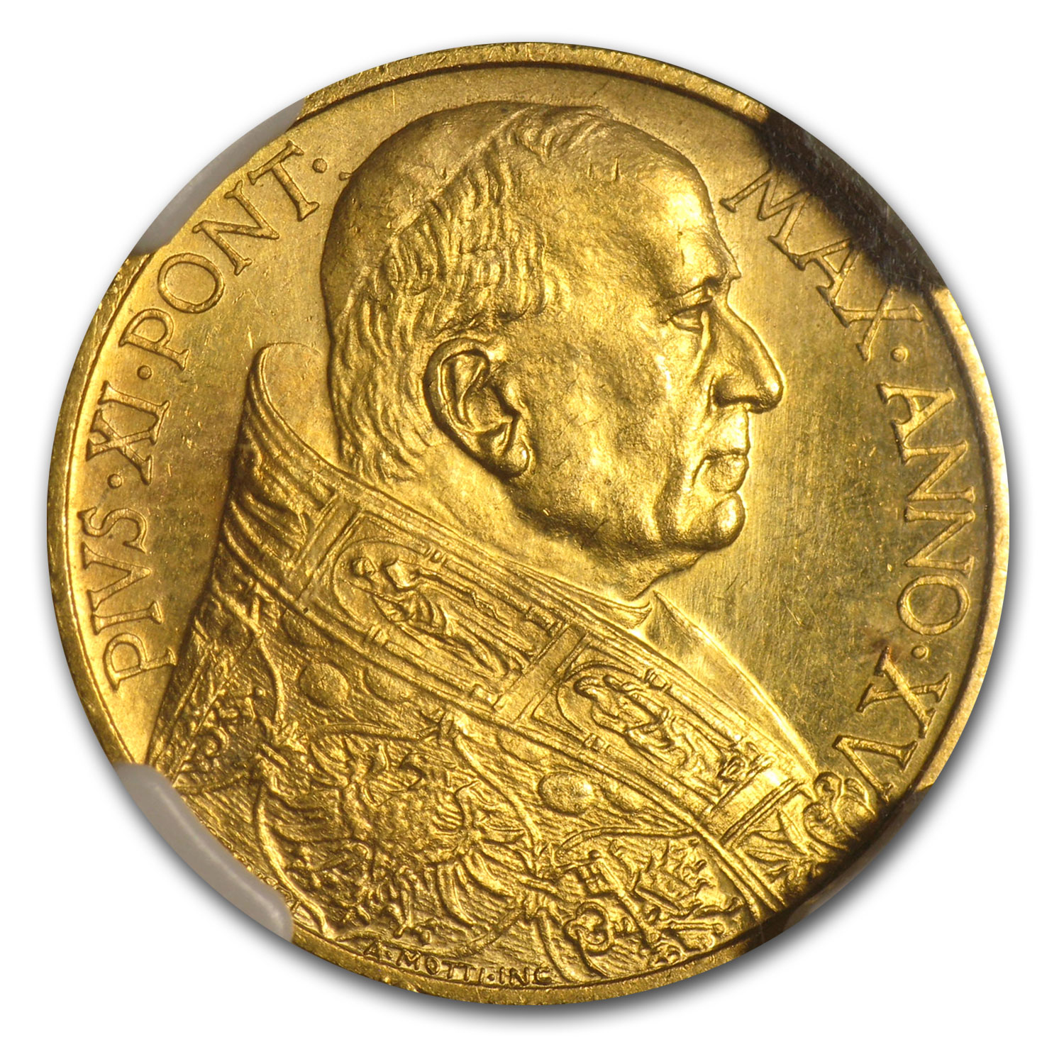 1936 Vatican City Gold 100 Lire Pius XI MS-64 NGC