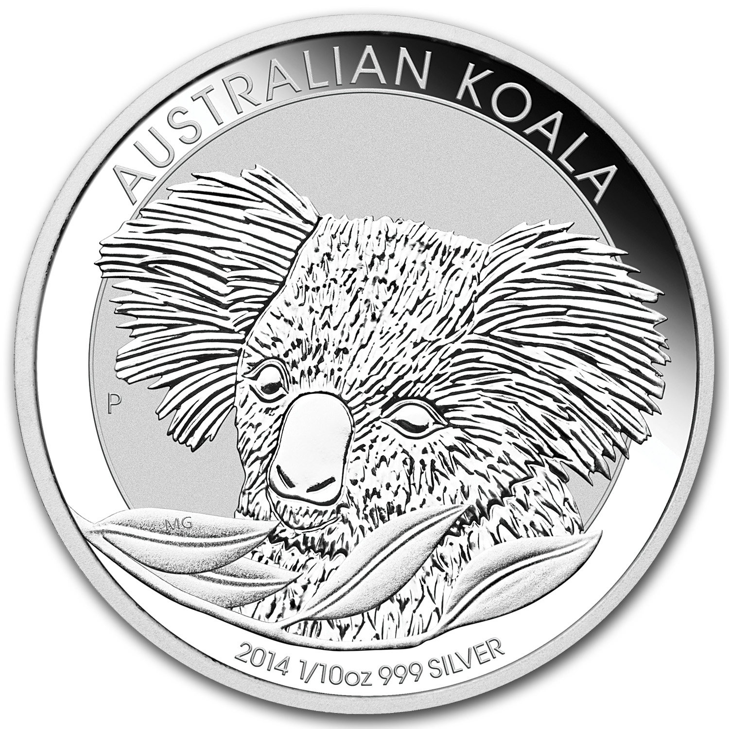 2014 Australia 1/10 oz Silver Koala BU (In display card)