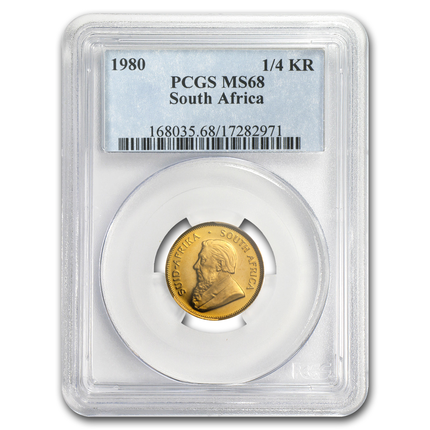 1980 South Africa 1/4 oz Gold Krugerrand MS-68 PCGS