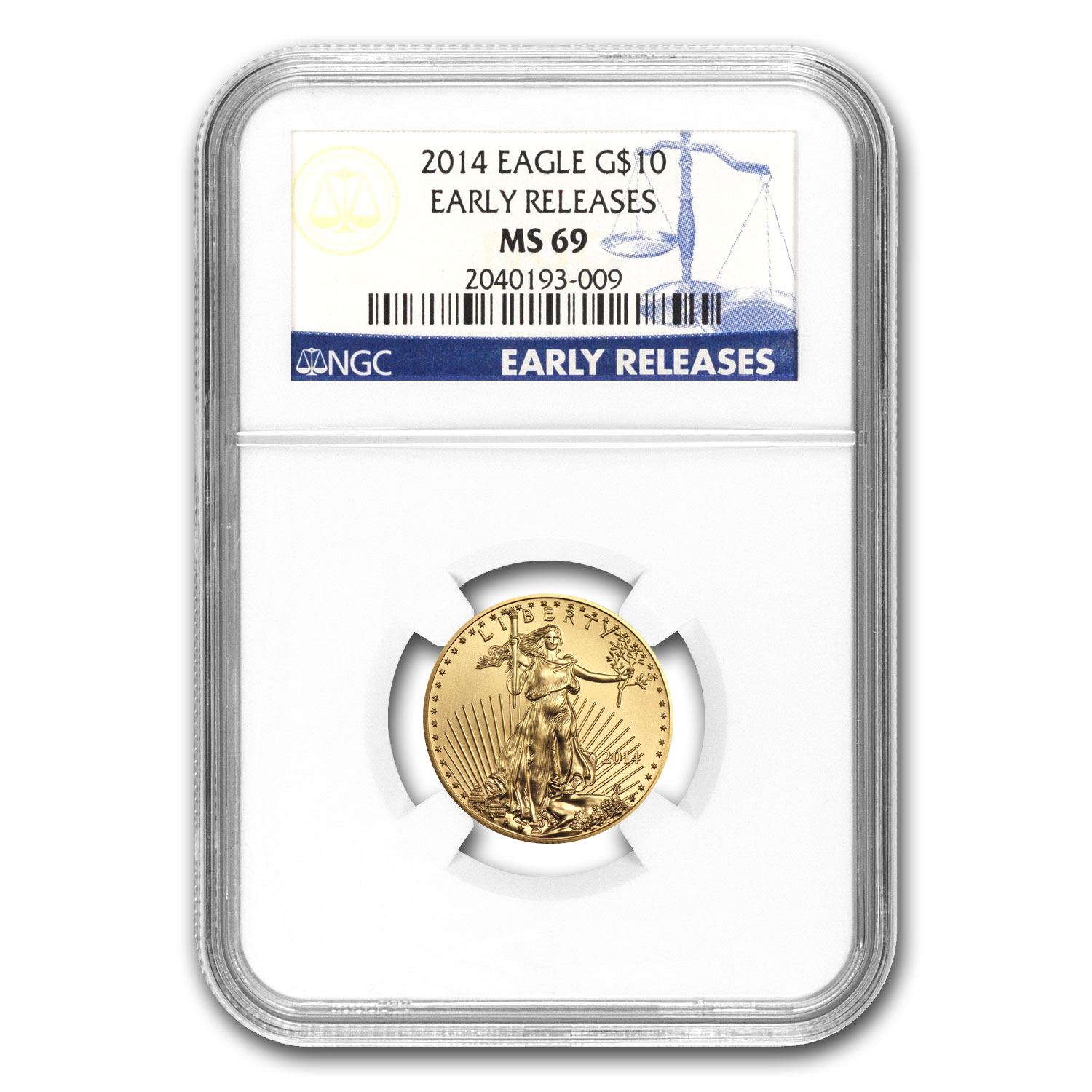 2014 1/4 oz Gold American Eagle MS-69 NGC (Early Releases)