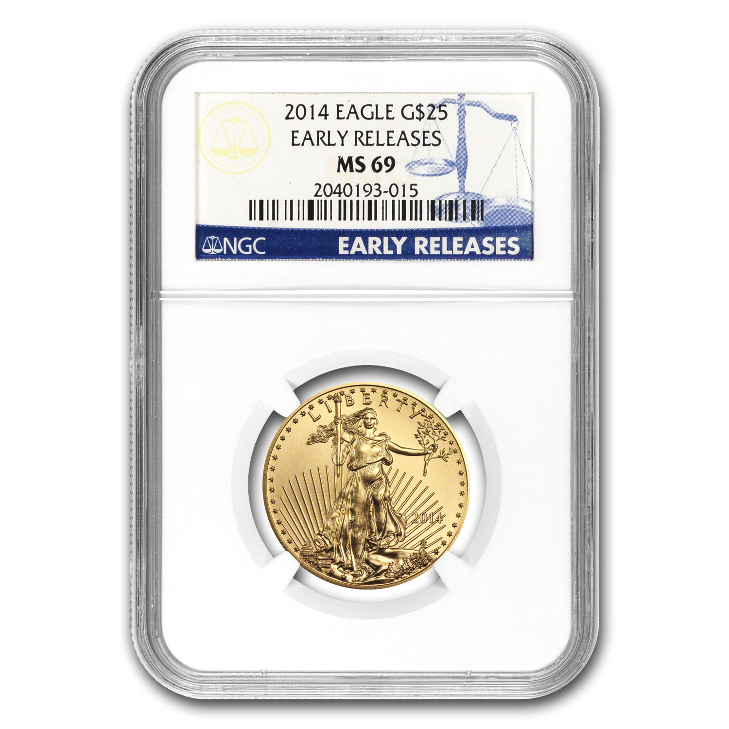 2014 1/2 oz Gold American Eagle MS-69 NGC (Early Releases)
