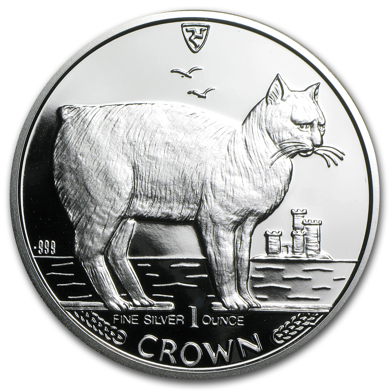 1988 Isle of Man Silver 1 Crown Manx Cat Proof