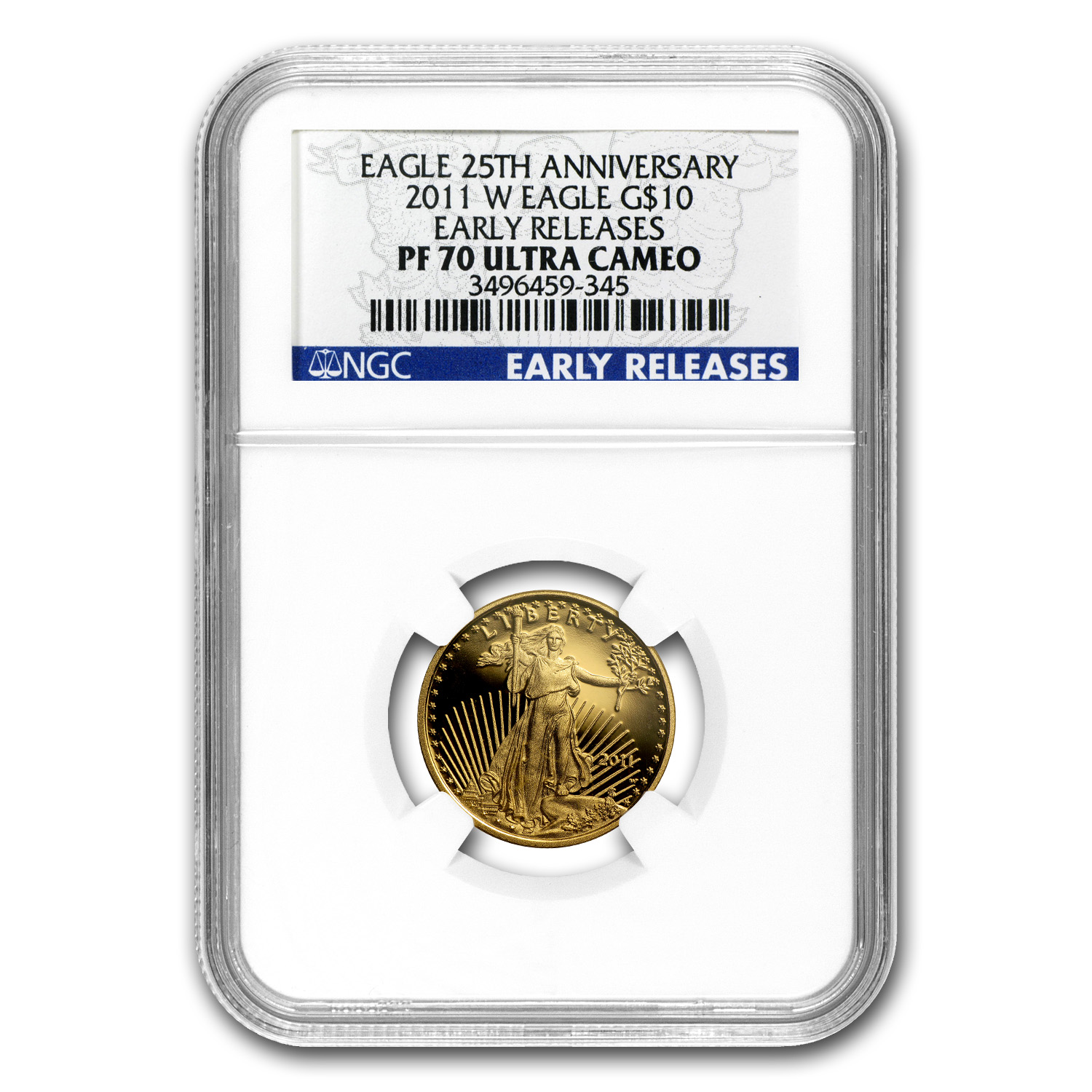 2011-W 1/4 oz Proof Gold American Eagle PF-70 NGC (ER)