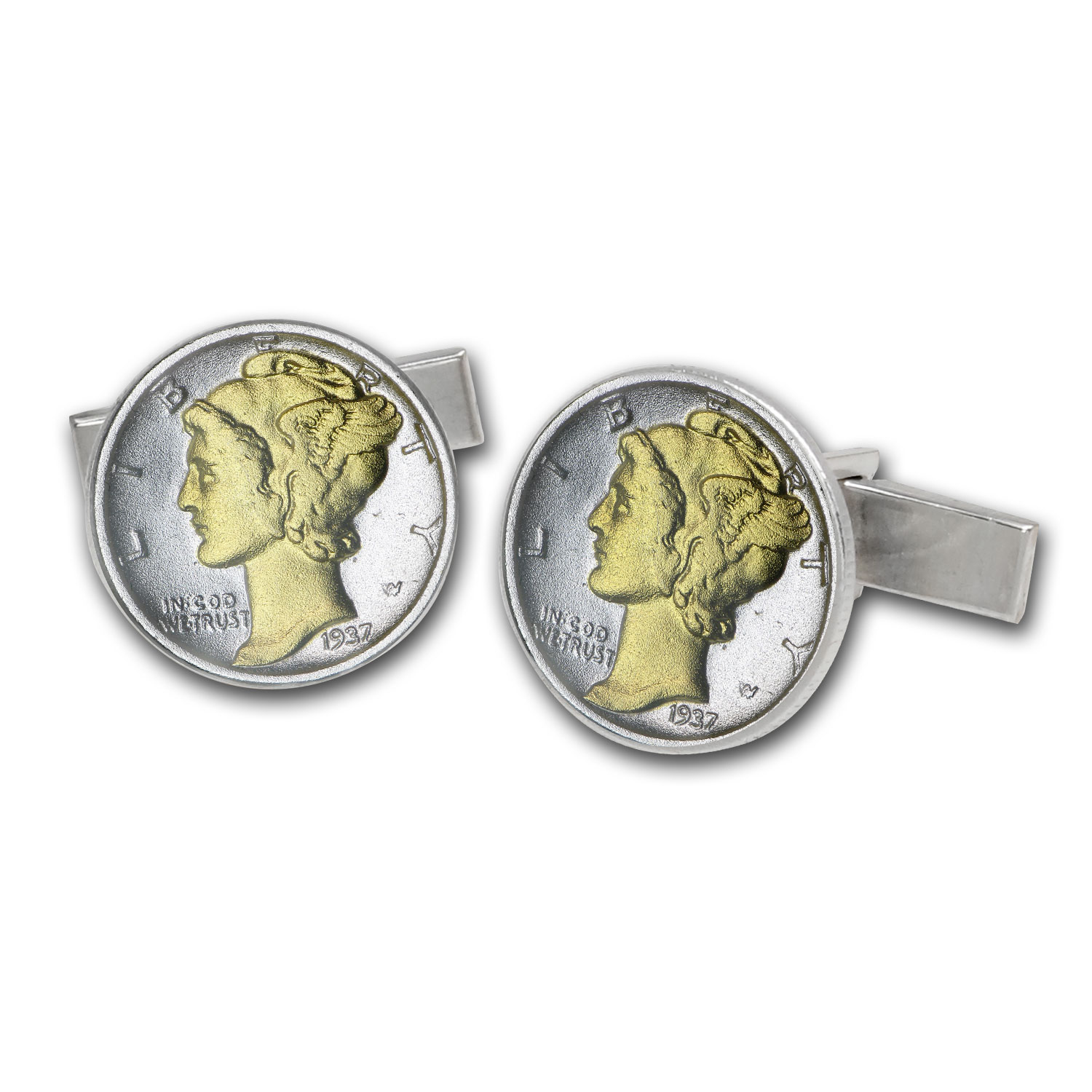 U.S. Mercury Dime Sterling Silver Cuff Links