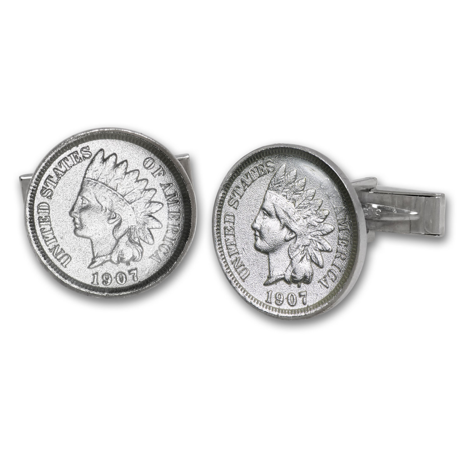 U.S. Indian Princess Penny Sterling Silver Cuff Links