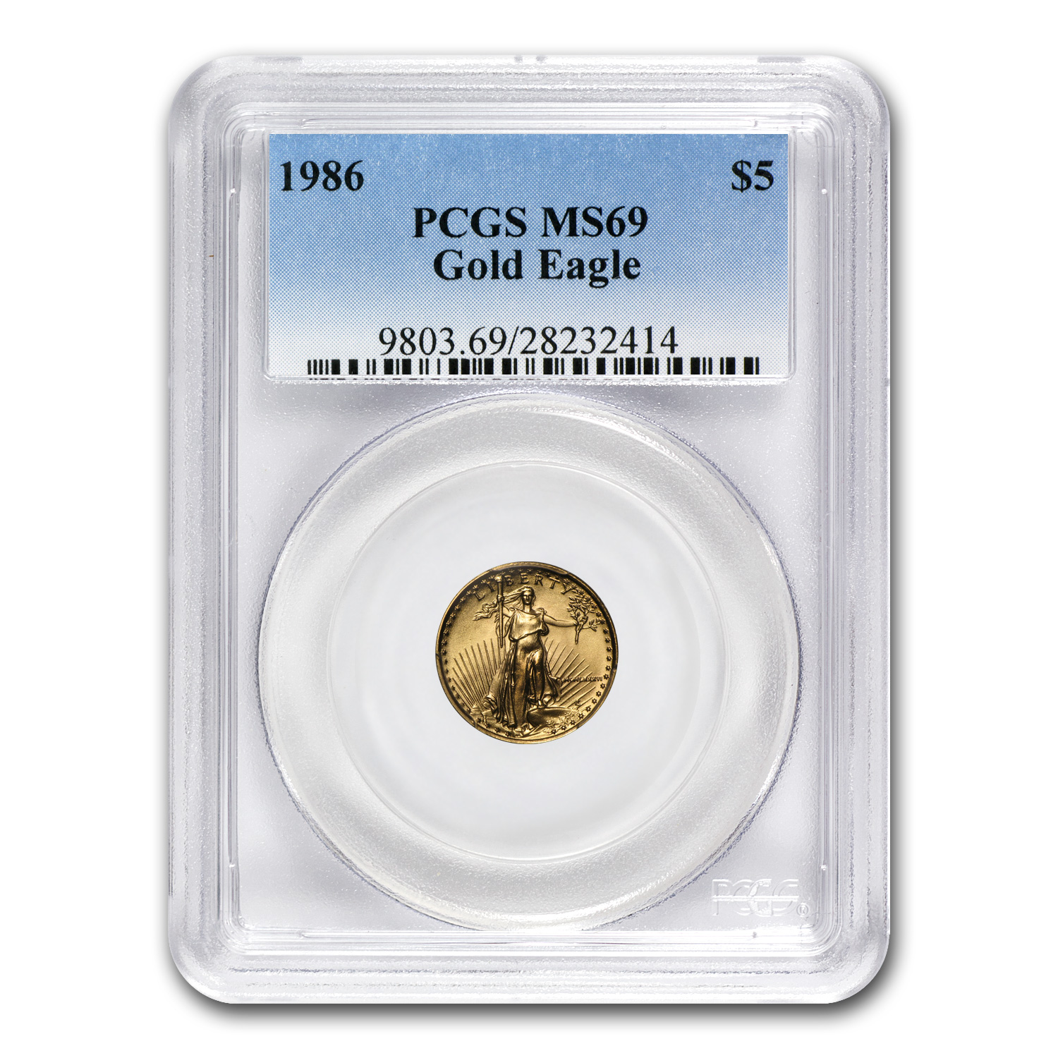 1986-2010 28-Coin 1/10 oz Gold American Eagle Set MS-69 PCGS