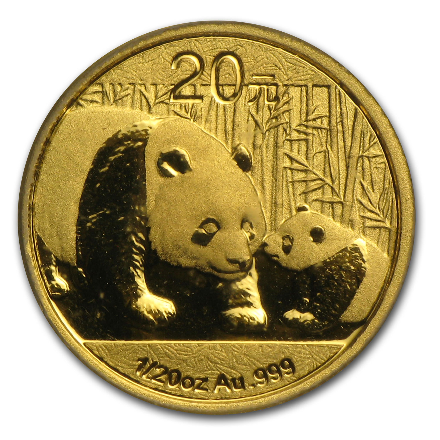 2011 (1/20 oz) Gold Chinese Panda - MS-70 PCGS (First Strike)