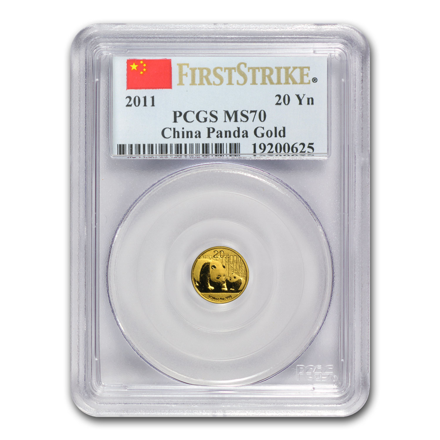 2011 China 1/20 oz Gold Panda MS-70 PCGS (First Strike)