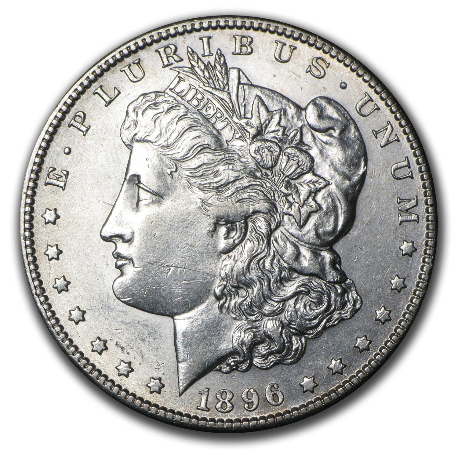 1896-S Morgan Dollar AU-58