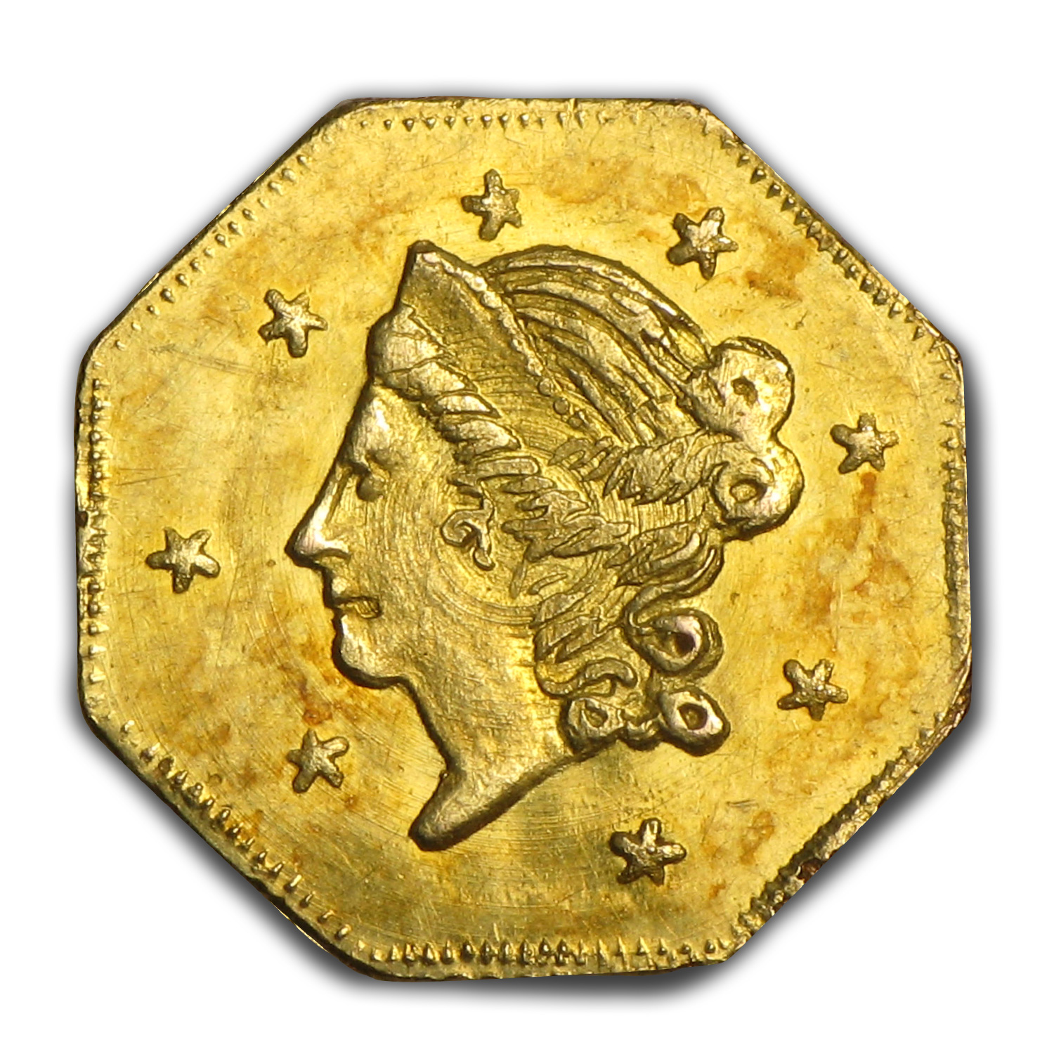 1871 Liberty Octagonal 50 Cent Gold MS-63 (BG-912)