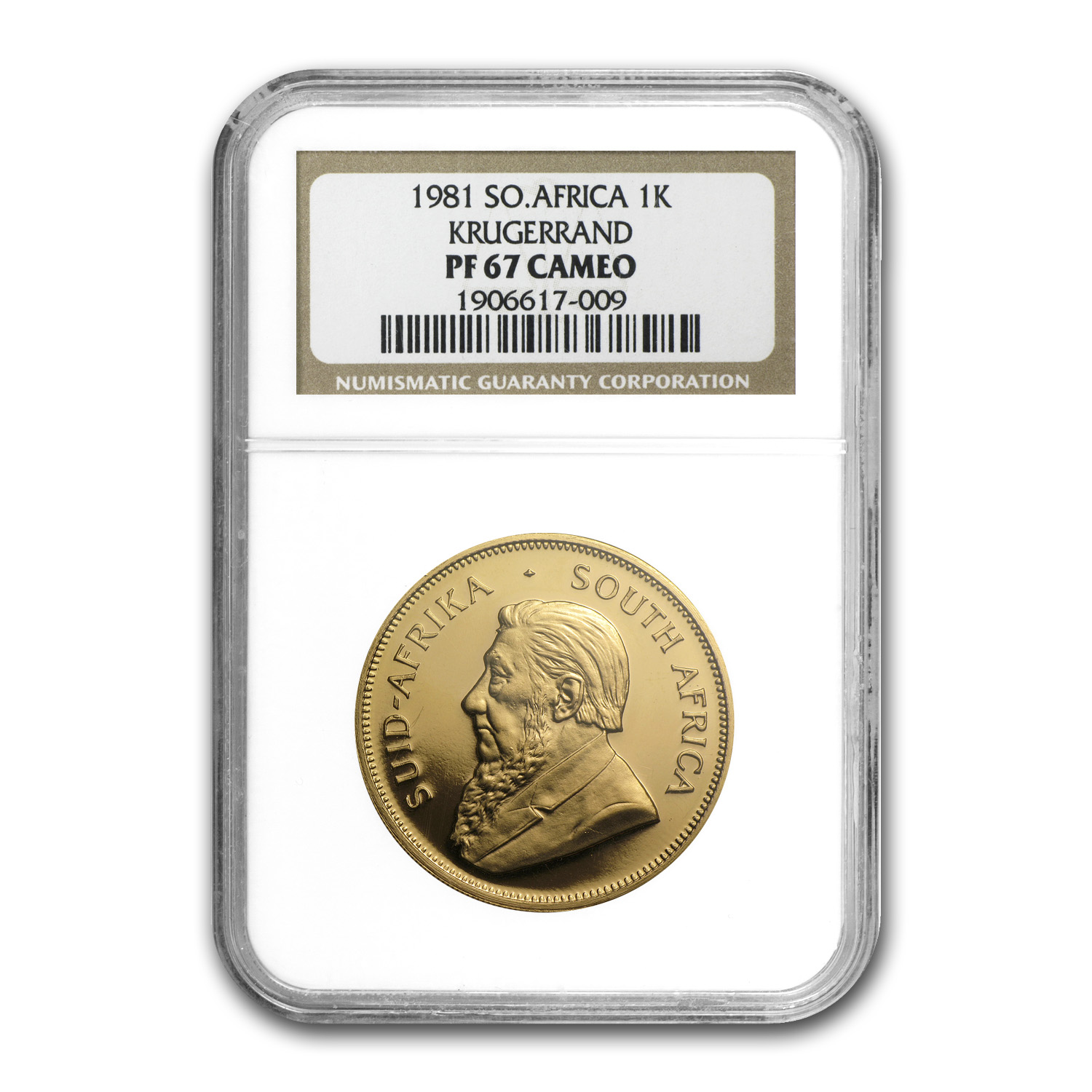 1981 1 oz Gold South African Krugerrand PF-67 Cameo NGC