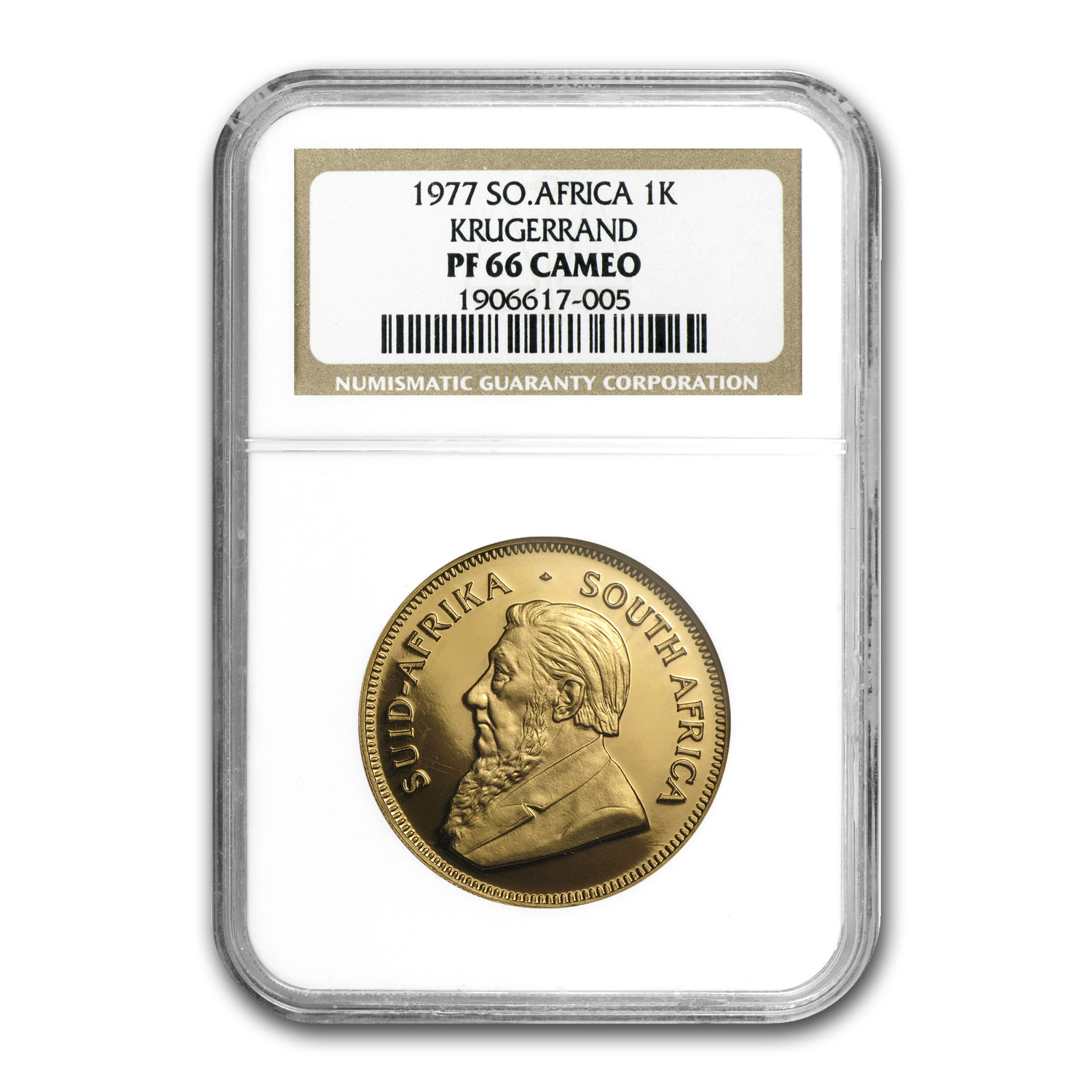 1977 South Africa 1 oz Gold Krugerrand PF-66 Cameo NGC