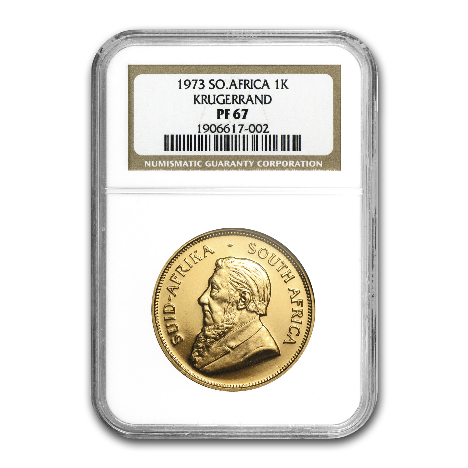 1973 South Africa 1 oz Gold Krugerrand PF-67 NGC