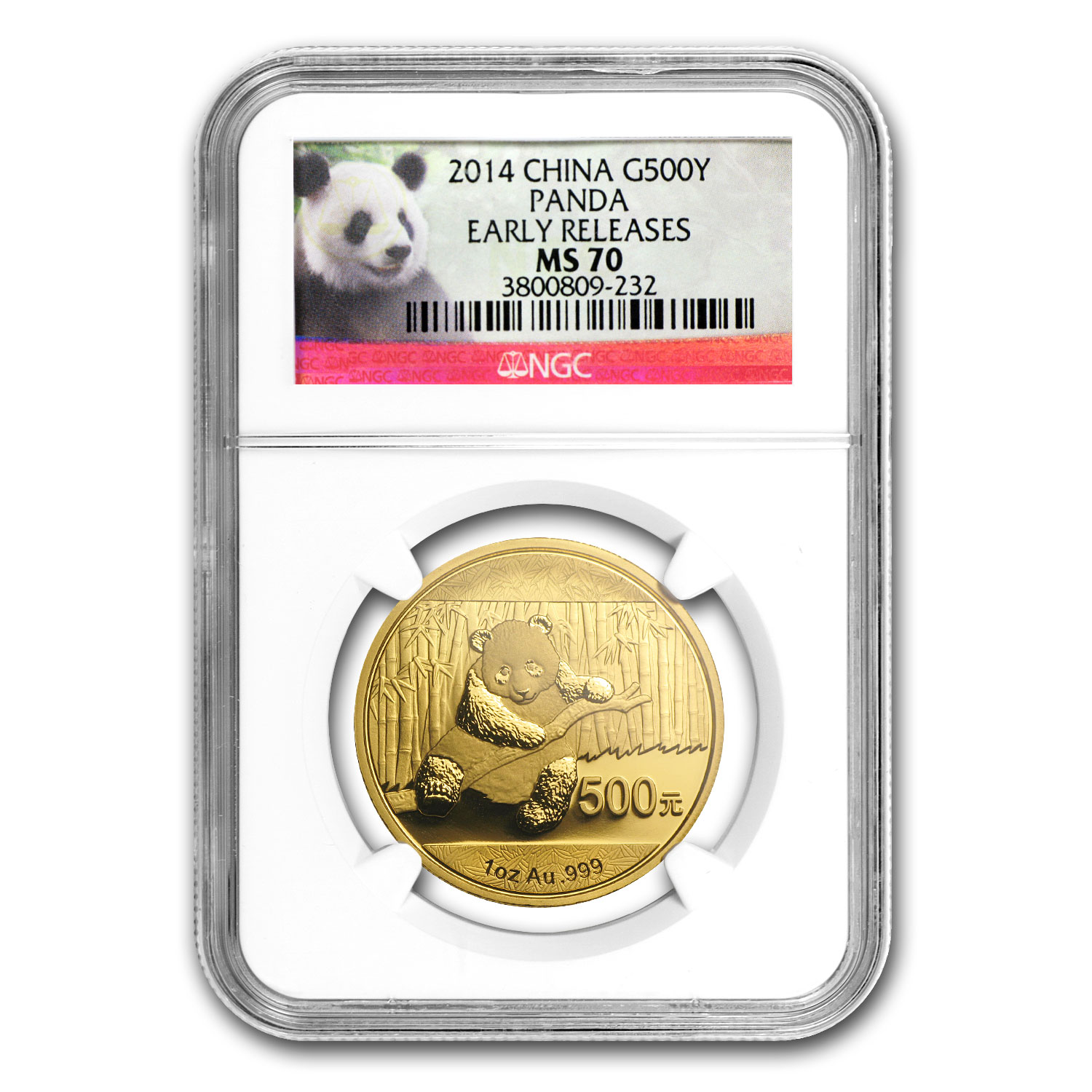 2014 1 oz Gold Chinese Panda MS-70 NGC (ER)
