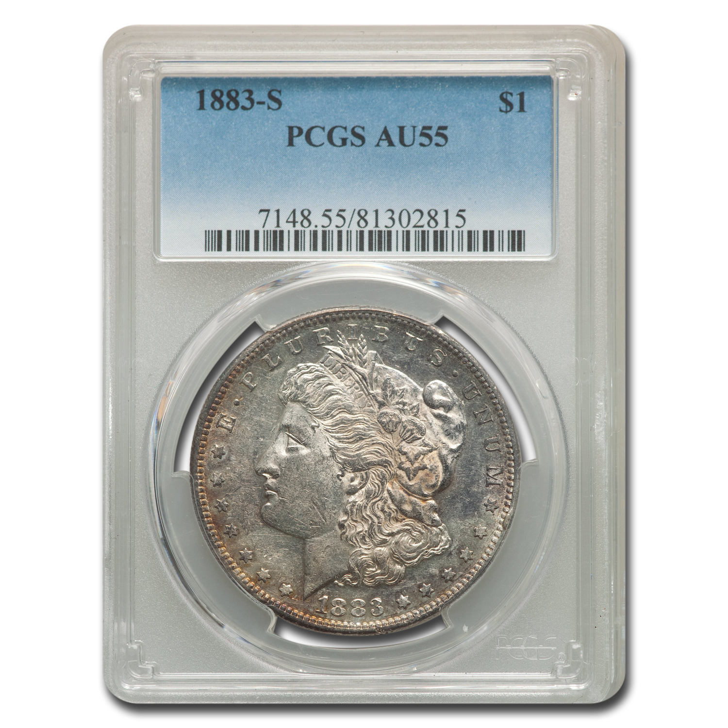 1883-S Morgan Dollar AU-55 PCGS