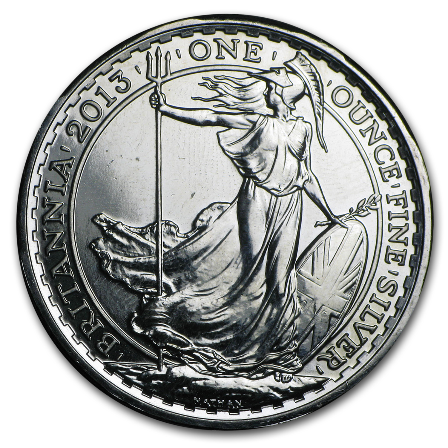 2013 1 oz Lunar Silver Britannia Year of the Snake (Spotted)
